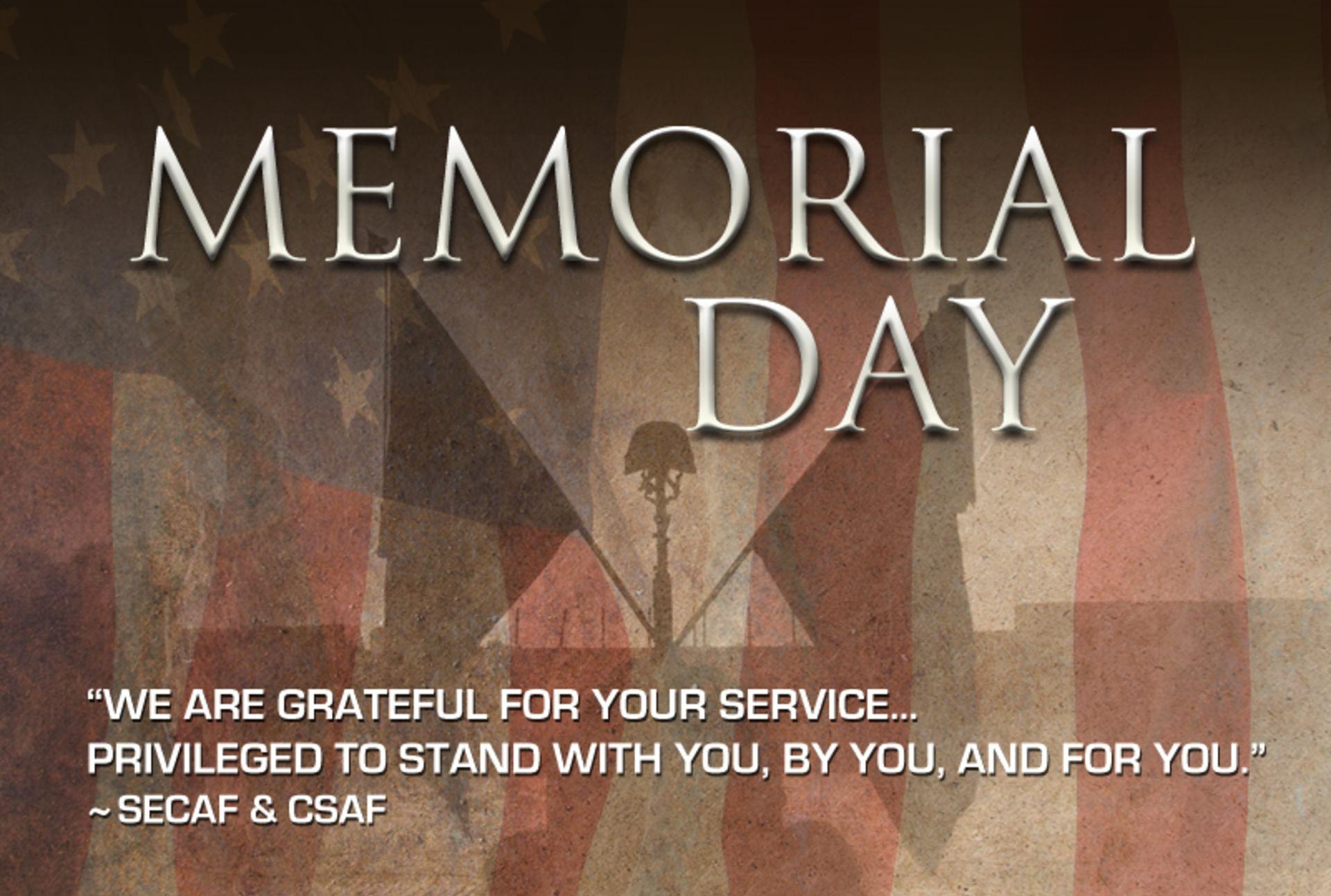 Memorial Day – Thank You!