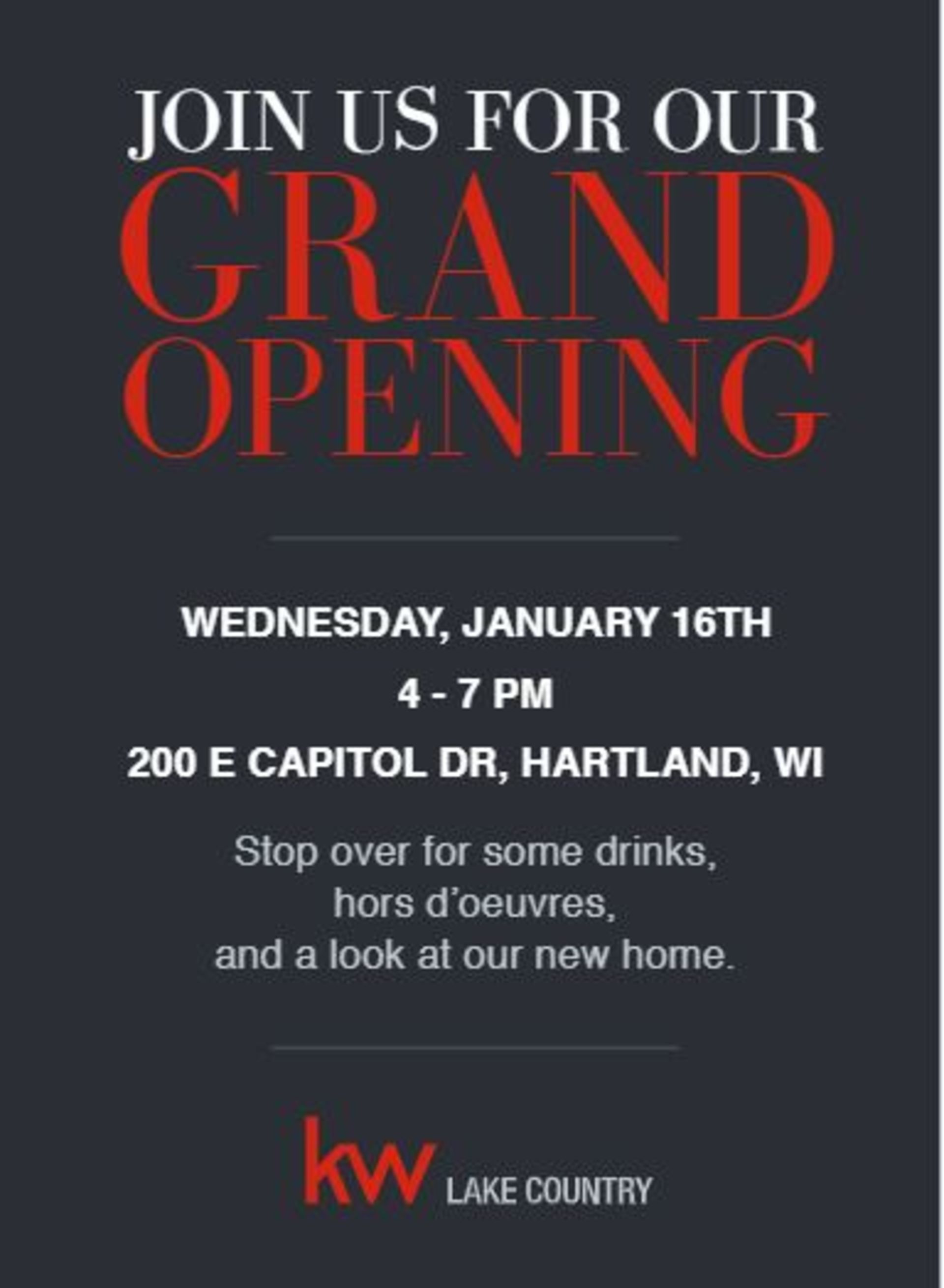 Keller Williams Lake Country Grand Opening!