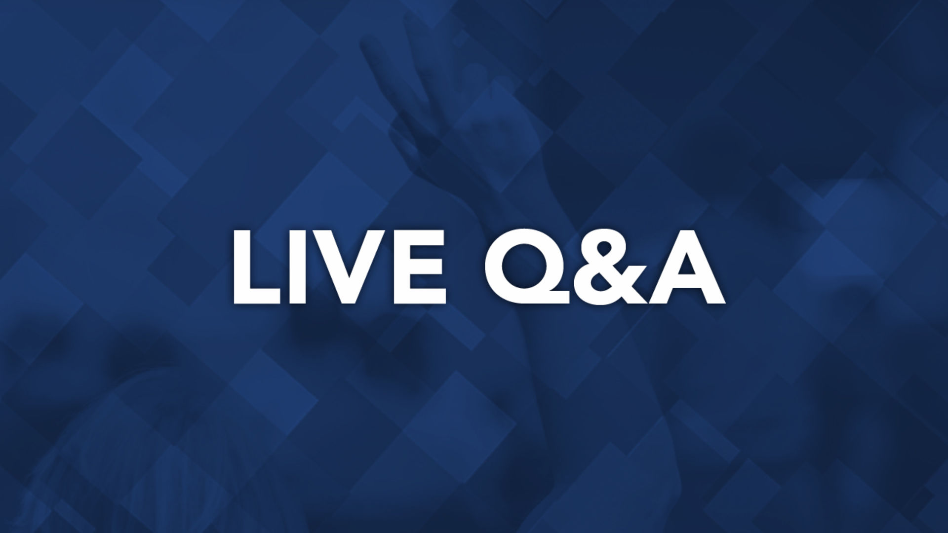 Live Q&A on the do's and don'ts during the homebuying process