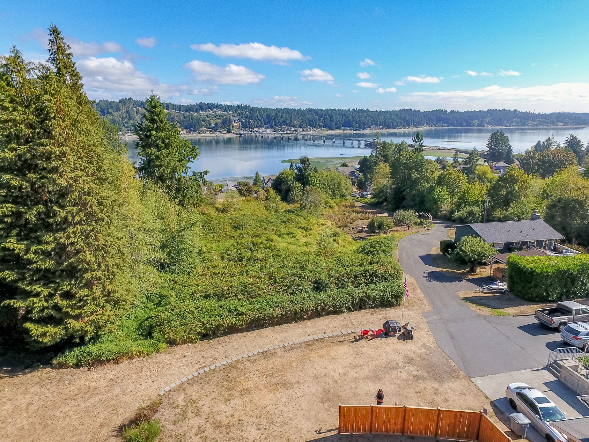Beautiful Views of Hales Passage from Fox Island Building Lot!