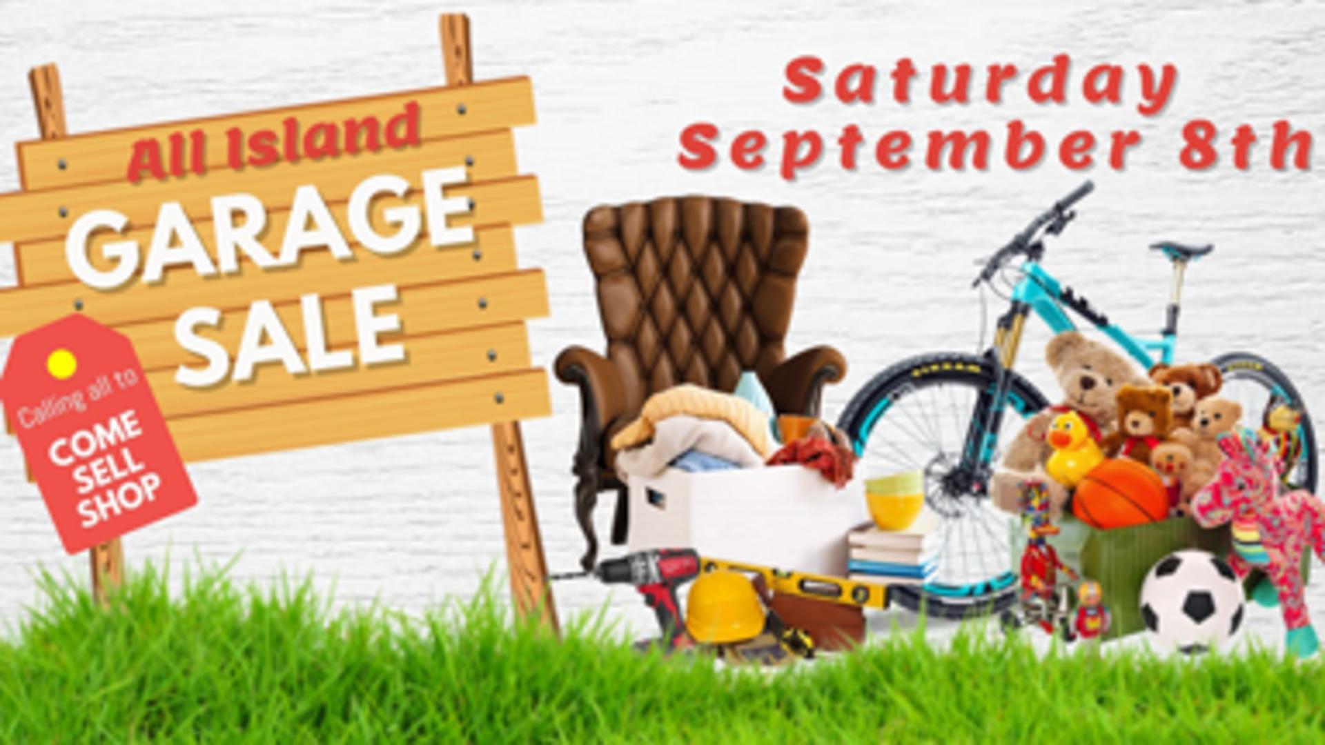 2018 Annual Fox Island Garage Sale – This Saturday, Sept. 8th!