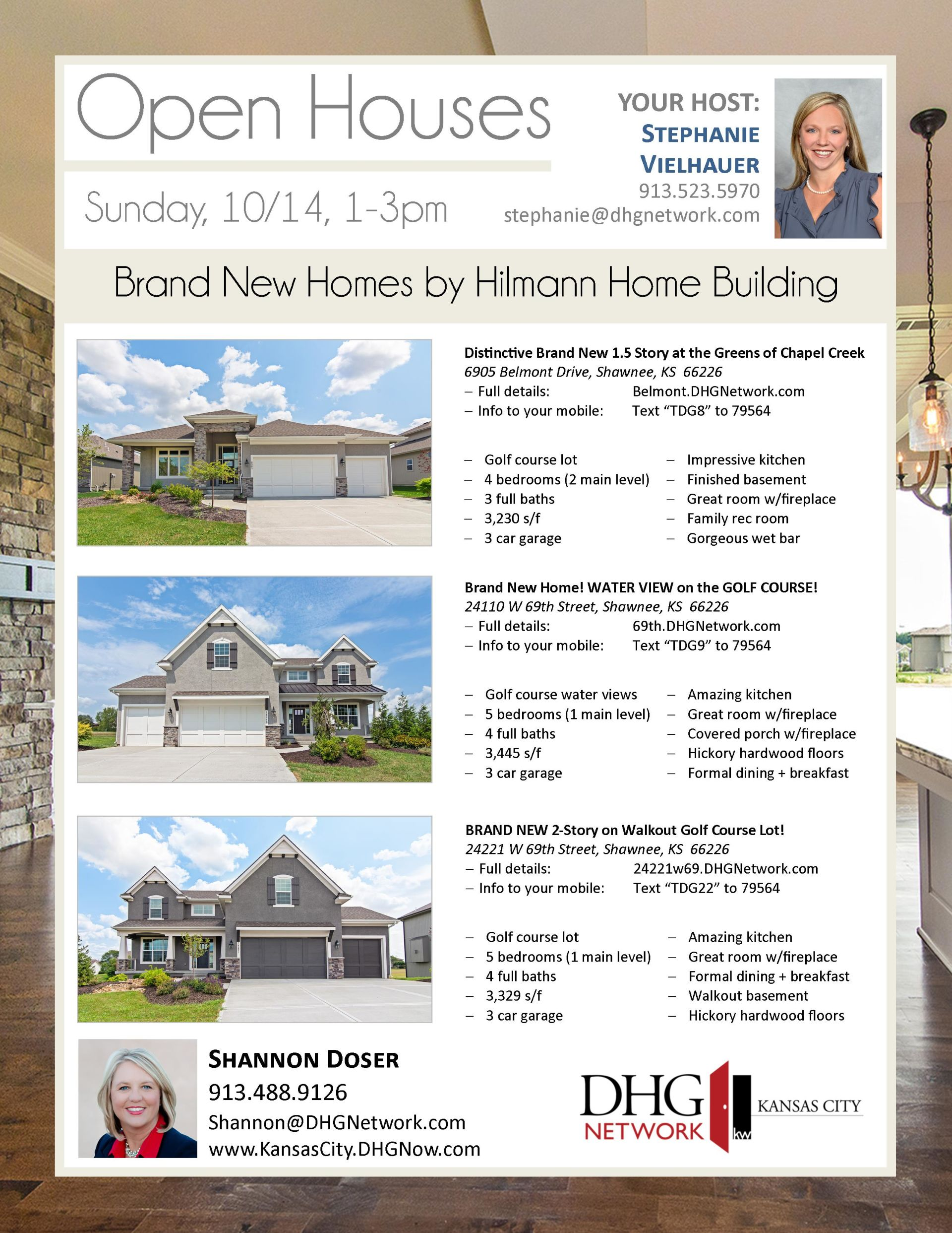 3 OPEN HOUSES 10/14, 1-3pm ~ Greens of Chapel Creek ~ BRAND NEW HOMES!