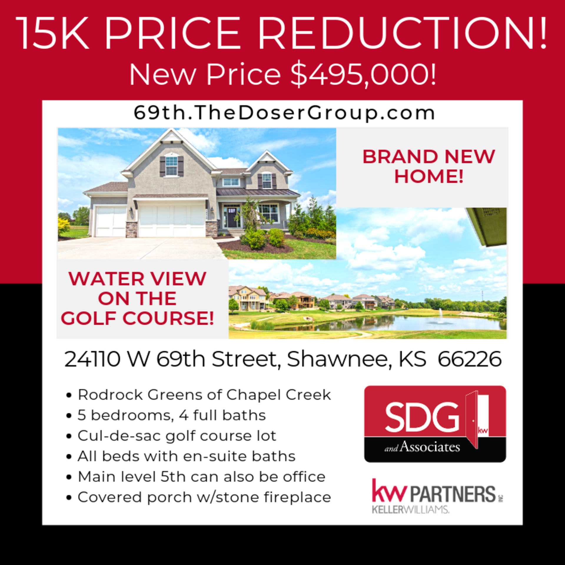 NEW PRICE on this BRAND NEW home with WATER VIEW on the GOLF COURSE