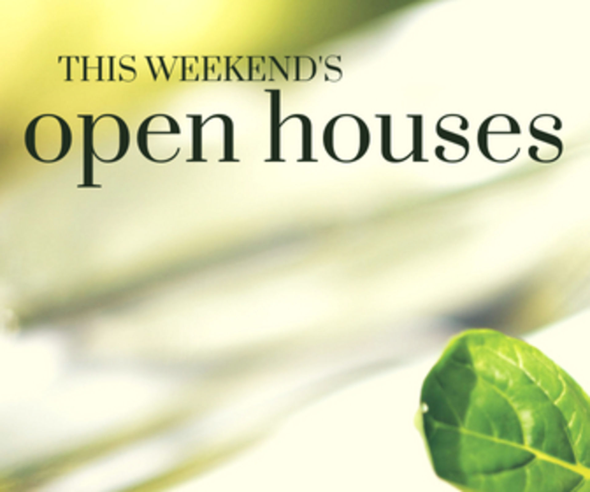 Shawnee and Leawood OPEN HOUSES! April 6th & 7th!