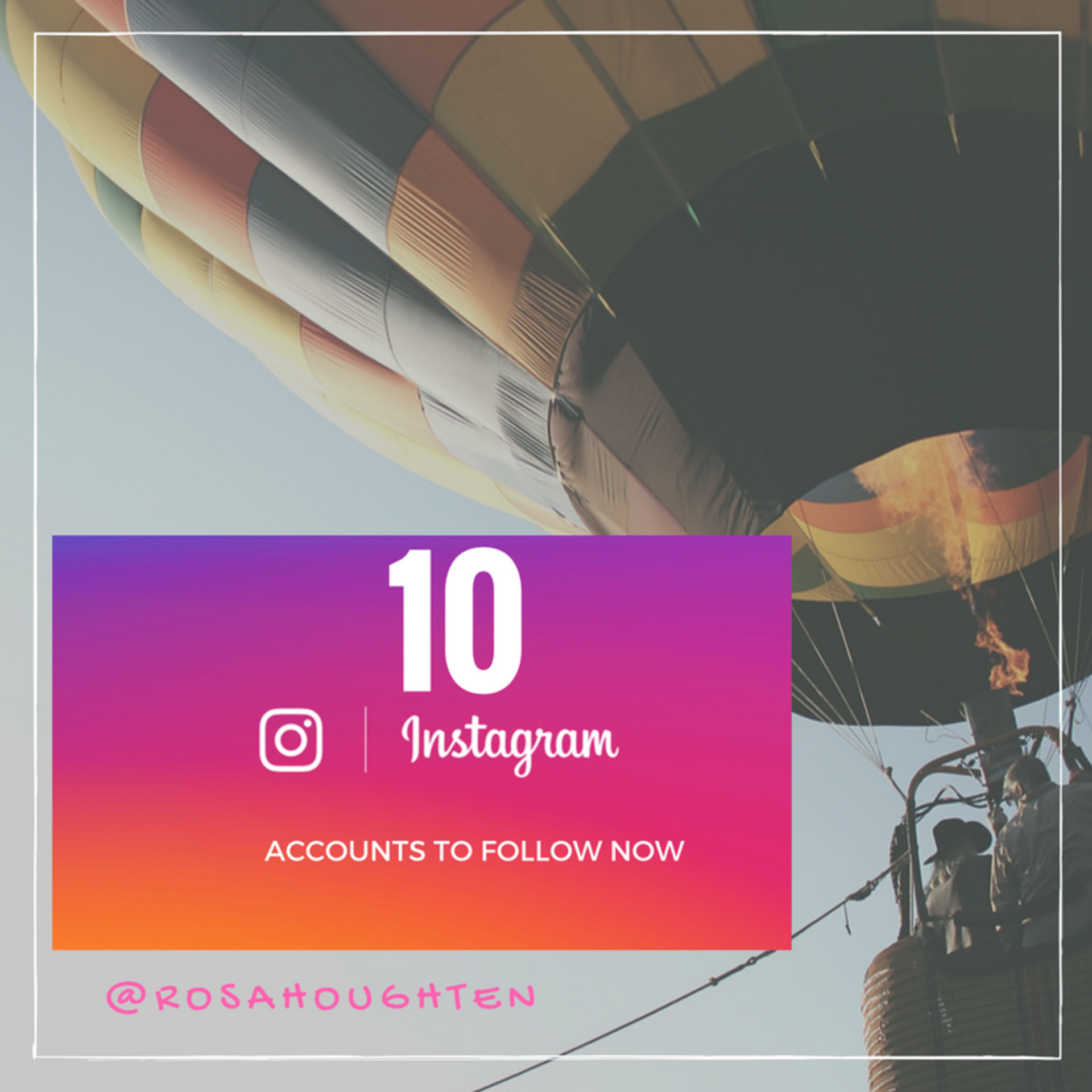 10 Instagram Accounts You Should Be Following Now