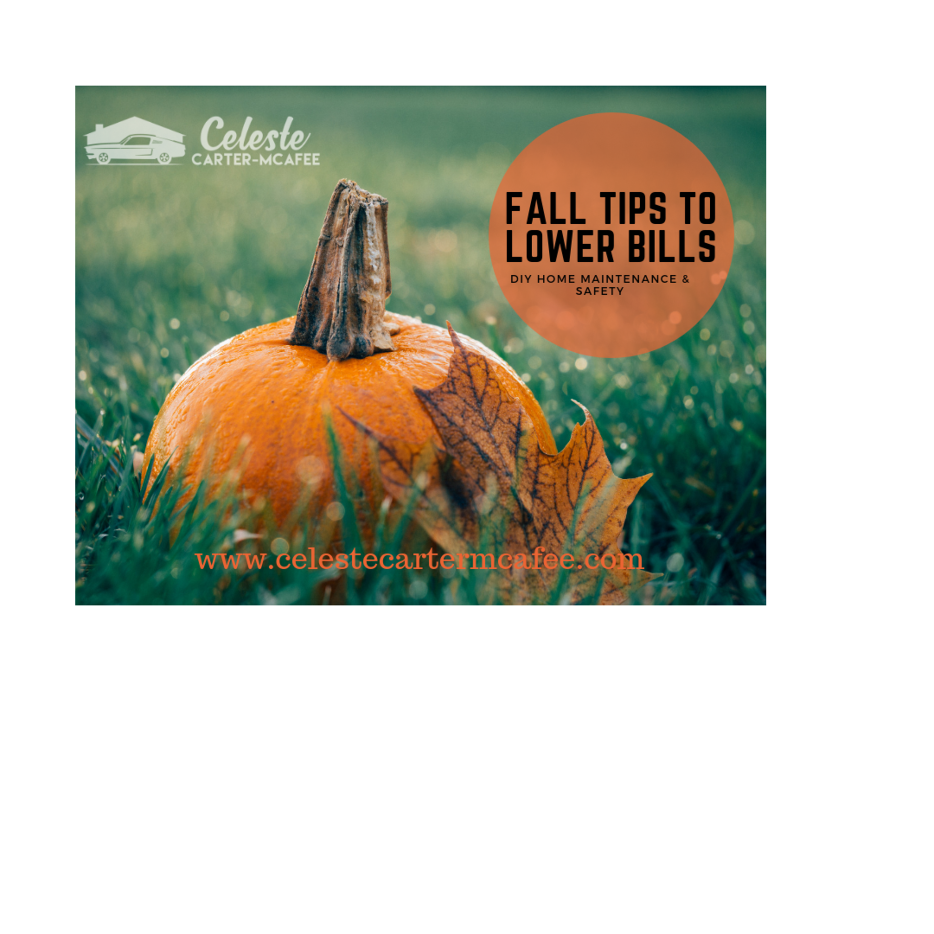 Fall home projects to keep your home maintenance bills down and keep you safer. Celeste Carter-McAfee, Keller Williams Legacy Group!
