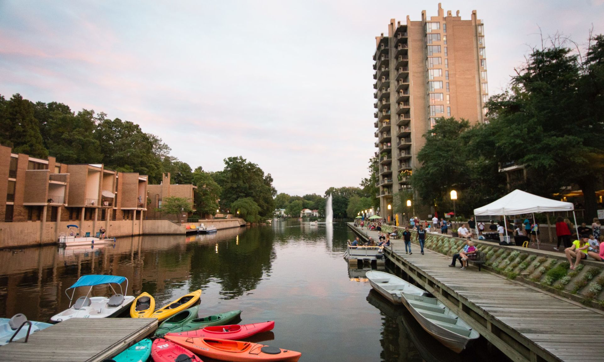 Lake Anne Plaza is the Heart of Reston Virginia
