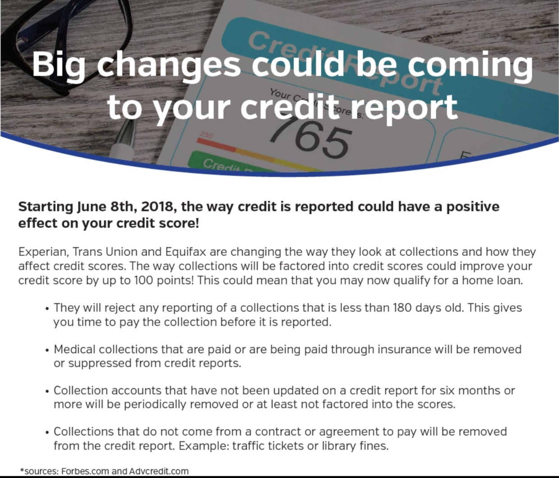 BIG credit reporting changes could be coming your way