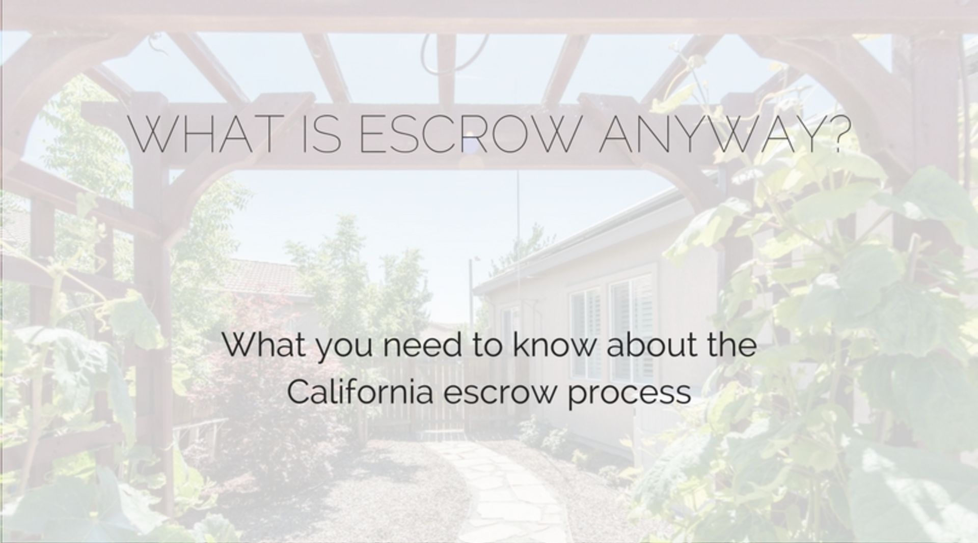 What is escrow anyway?