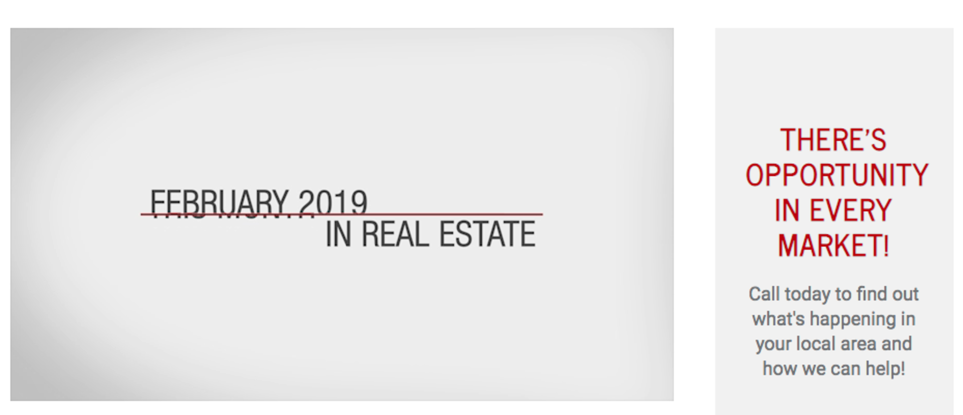 This Month in Real Estate – February 2019