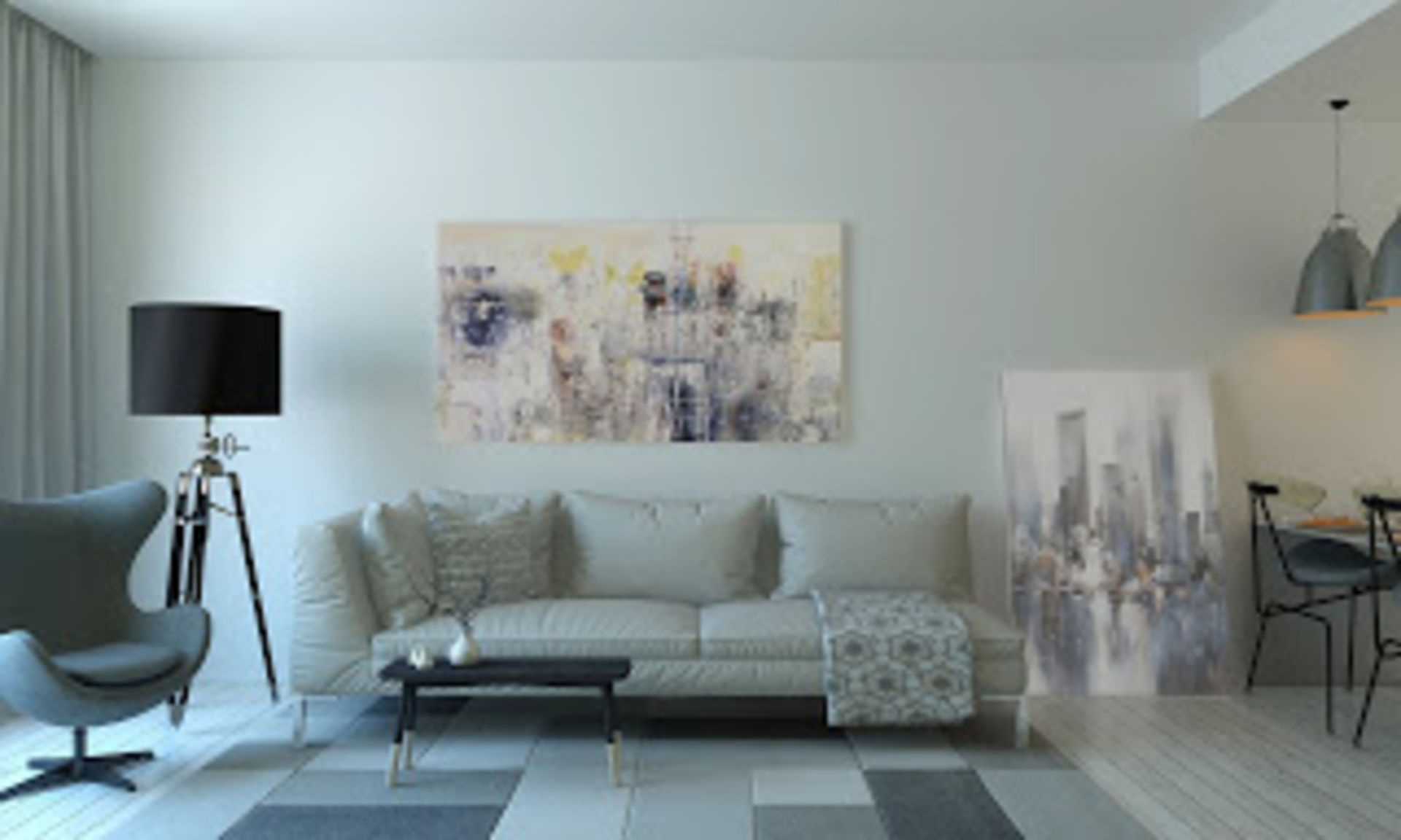Defining Distinct Spaces In A Large Room