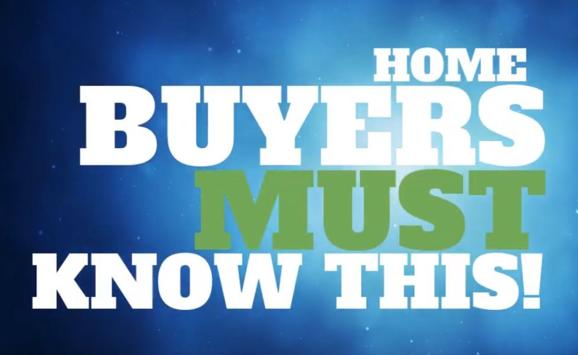 Home buyers must know this!