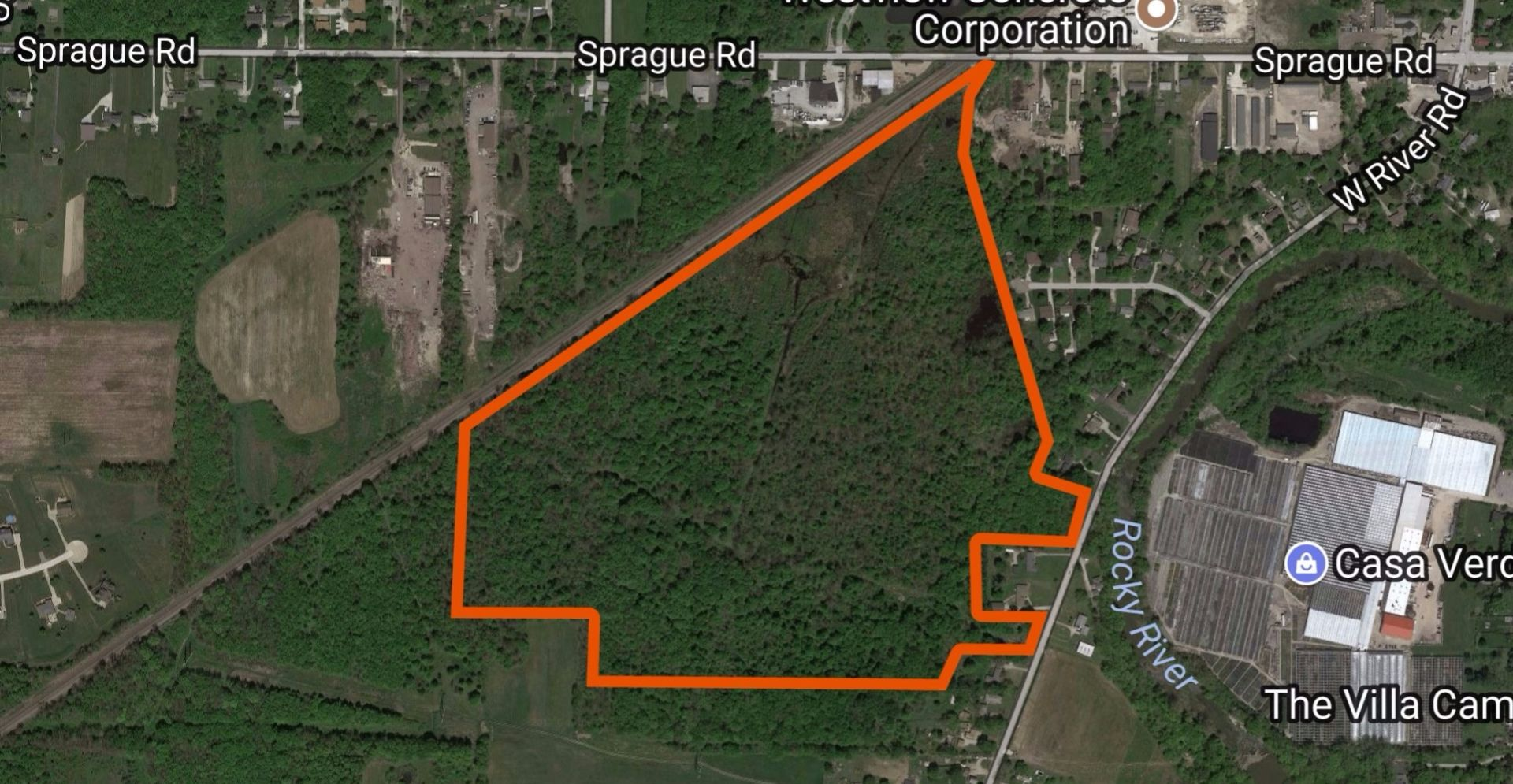 92 Acres Mixed Use Commercial Land in Columbia Station, Ohio.
