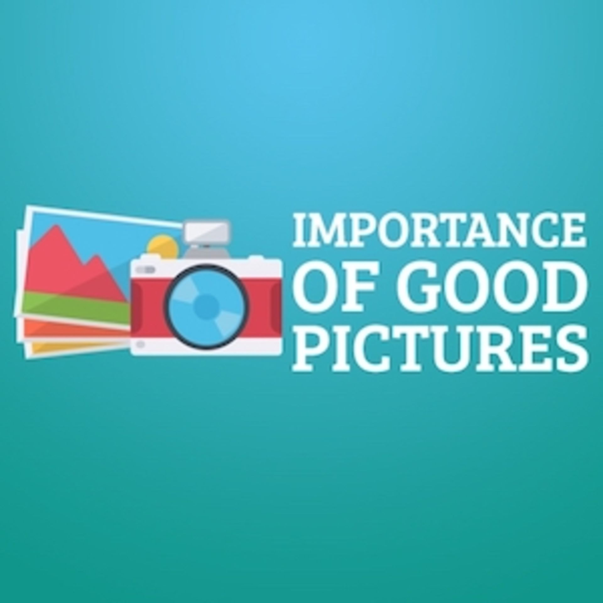 Importance of Good Pictures!