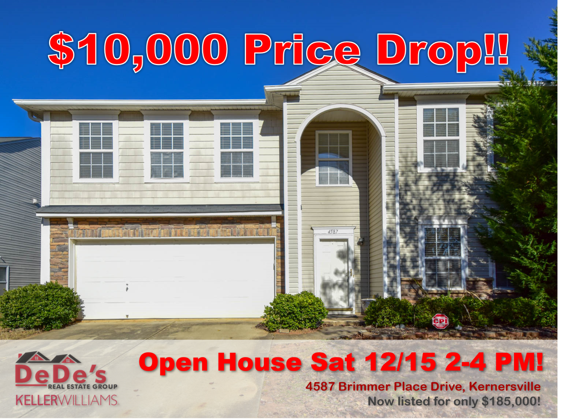 HUGE price Drop and OPEN HOUSE this Saturday