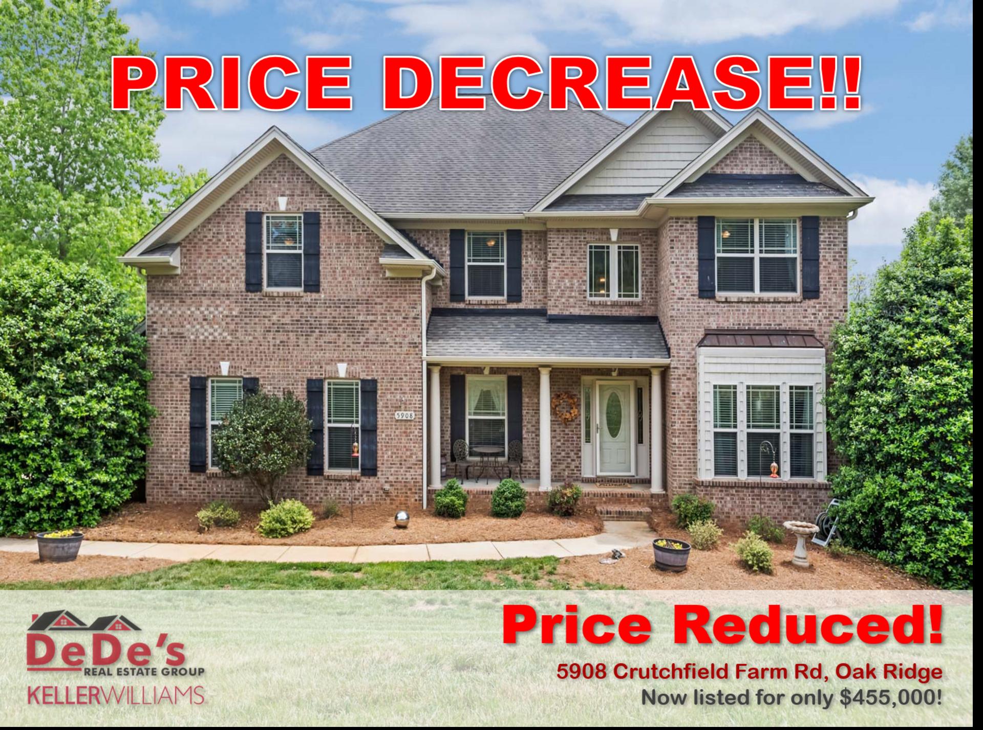 Price Reduced on Oak Ridge Home!