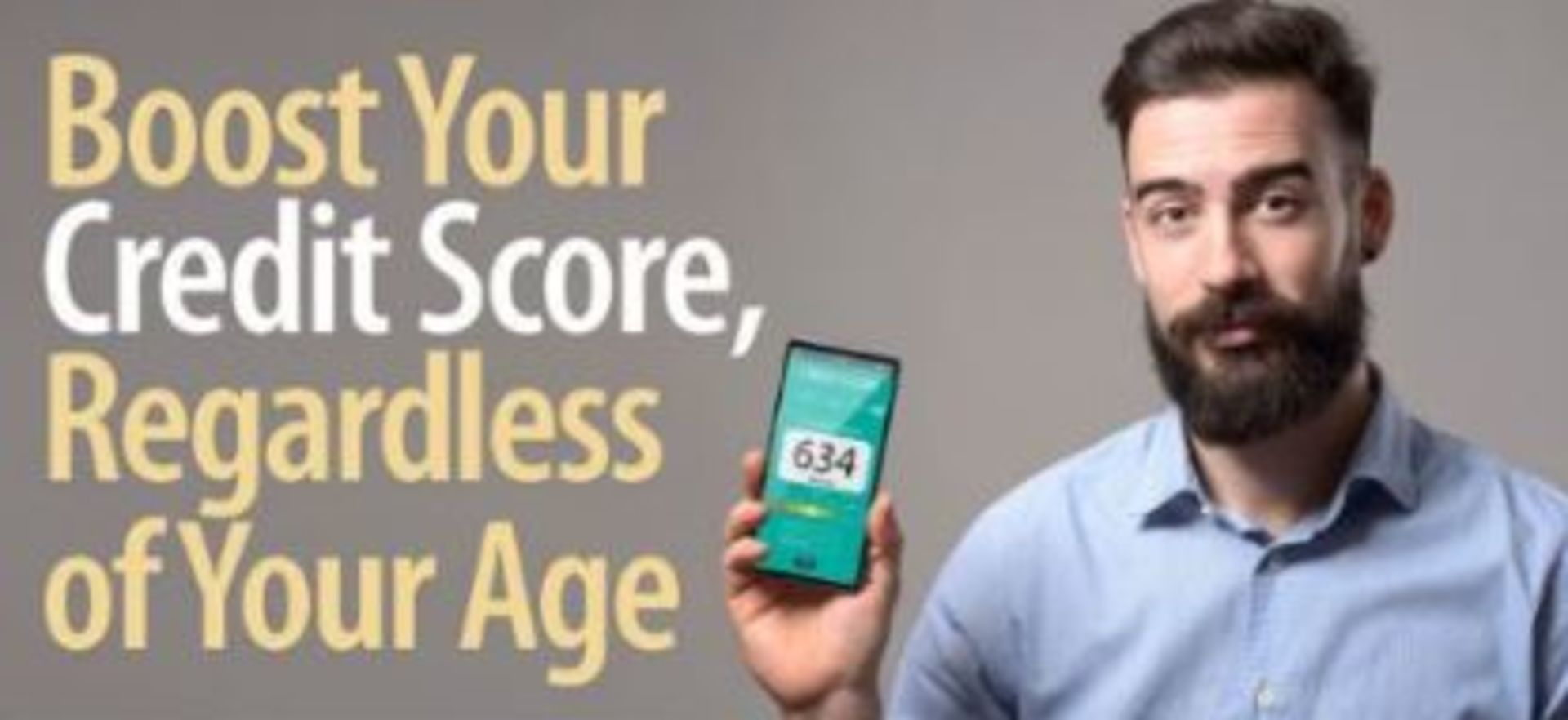 Boost Your Credit Regardless of Your Age