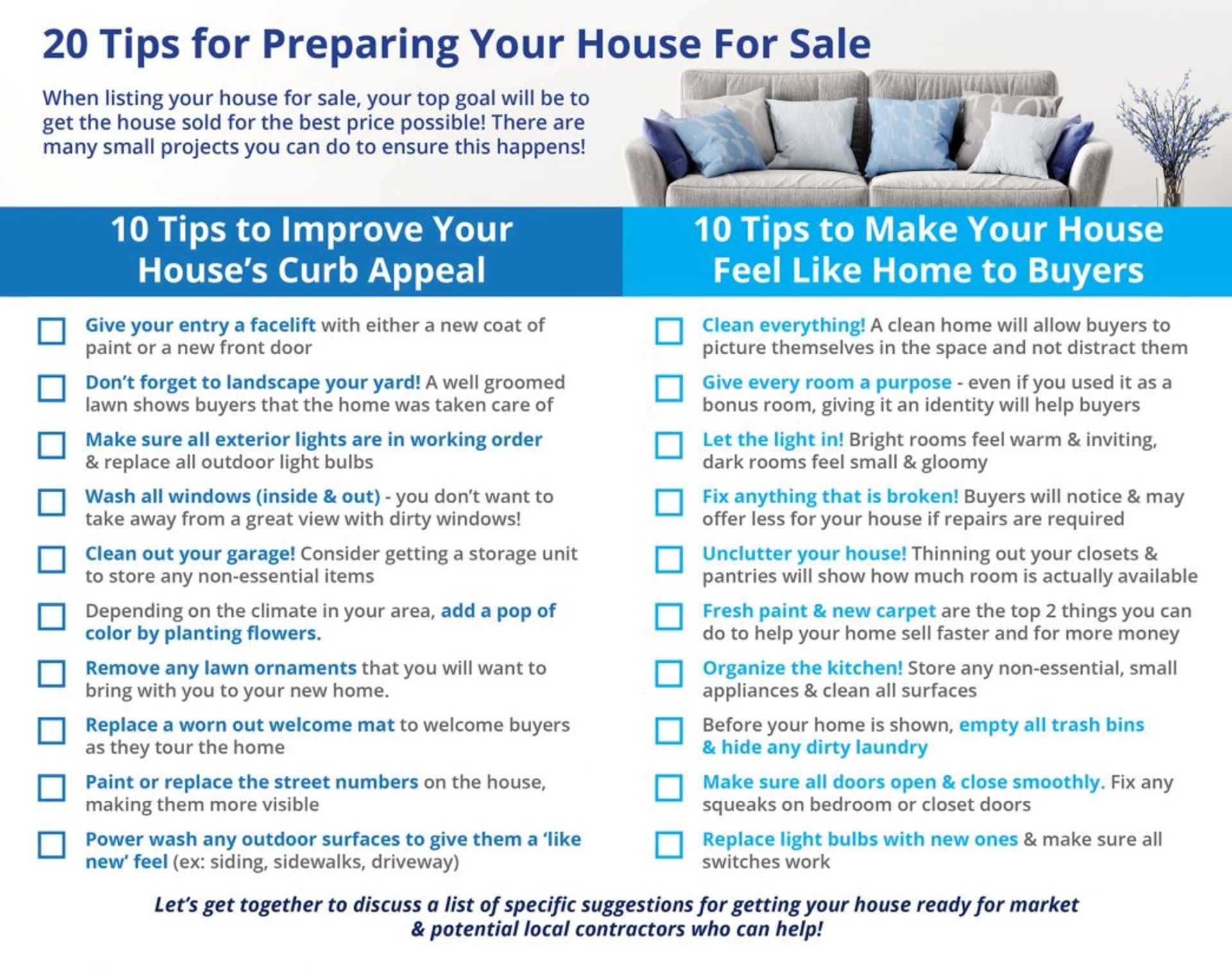 20 Tips for Preparing Your House for Sale This Spring [INFOGRAPHIC]
