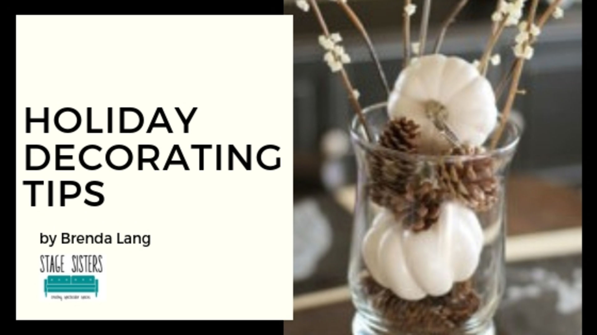 Repurpose Thanksgiving Decor for the Holidays, by Brenda Lang