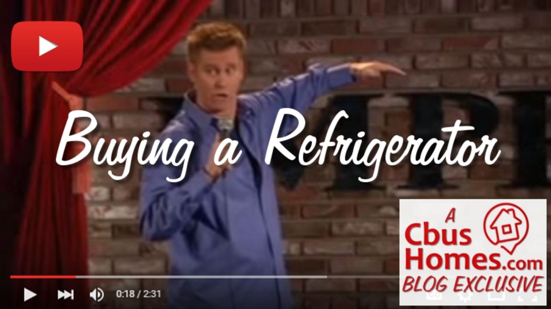 VIDEO: Hilarious Stand-Up by Comic Brian Regan About Buying a New Refrigerator