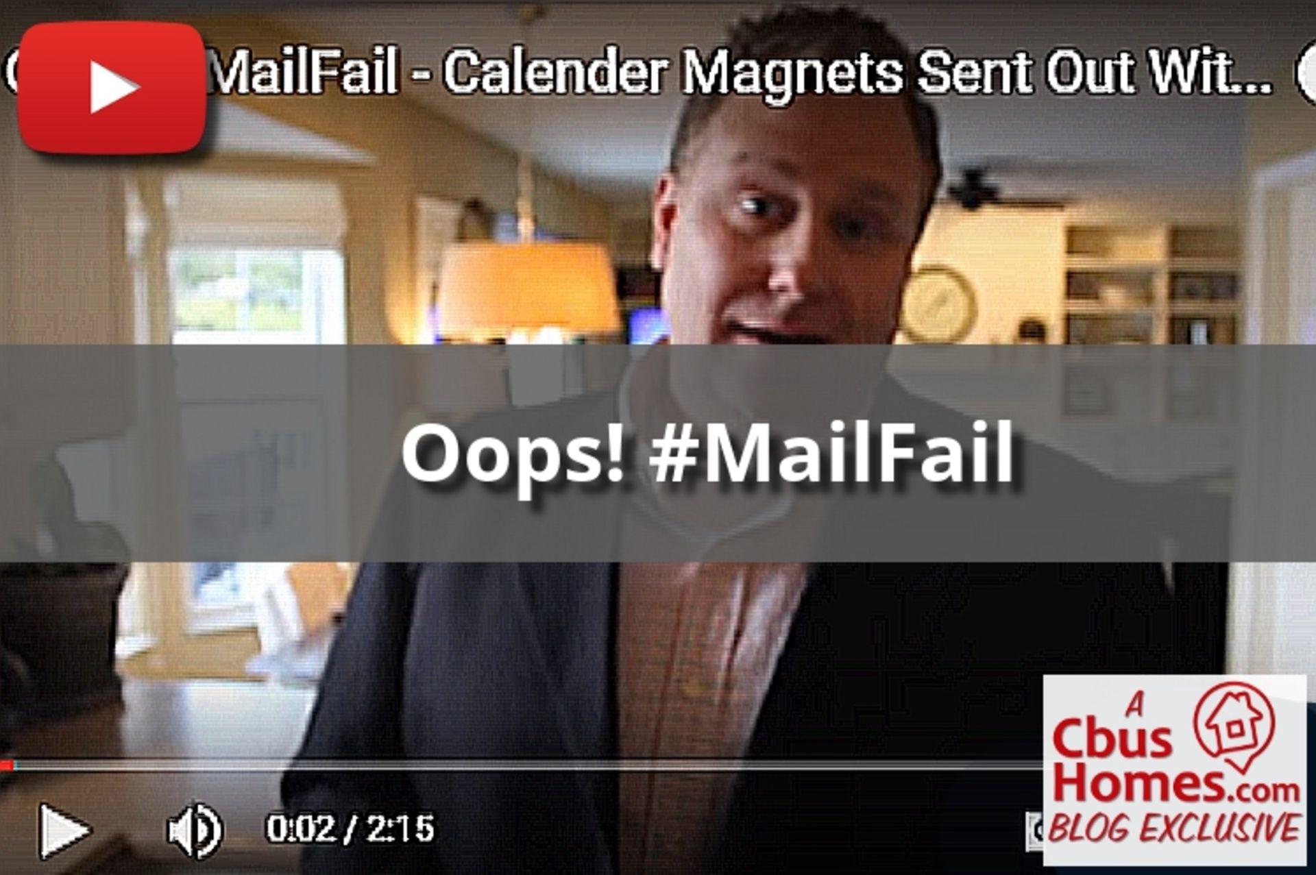 #MailFail: Calendar Magnet Printing Error