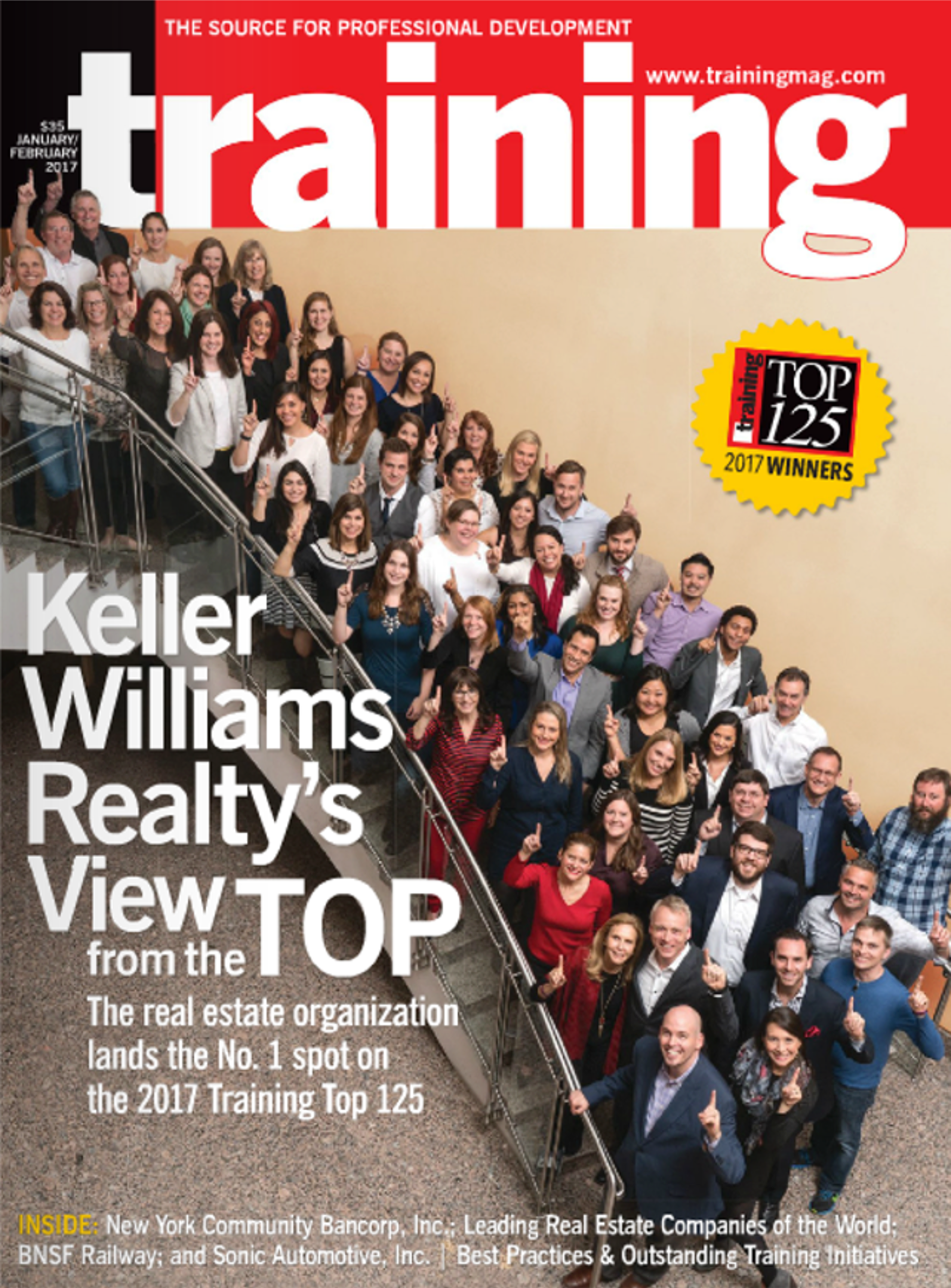 Keller Williams Named #1 Training Company for 2017 by Training Magazine