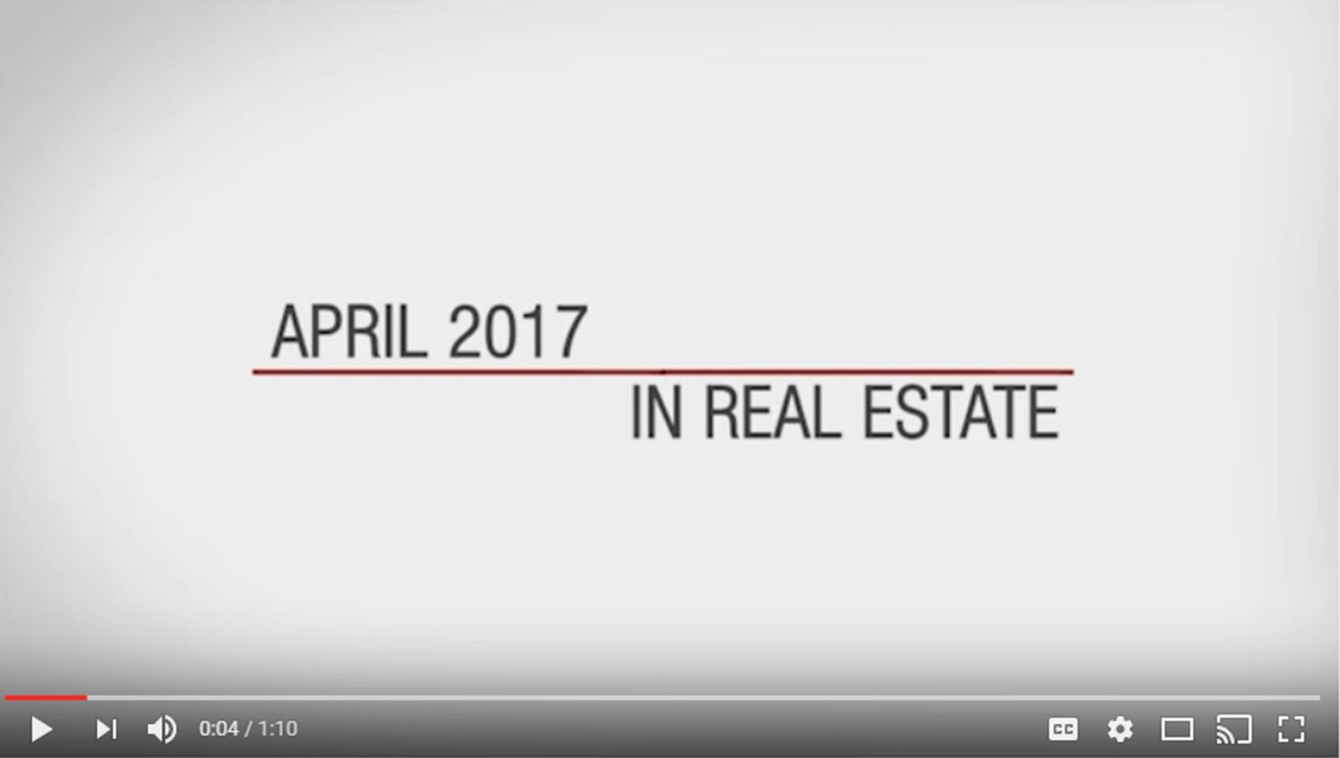 This Month in Real Estate – April 2017