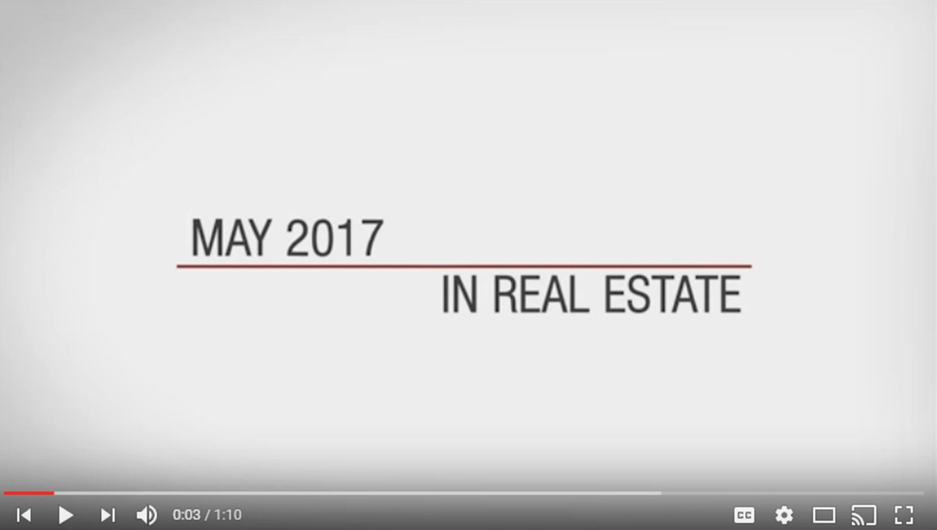 This Month in Real Estate – May 2017