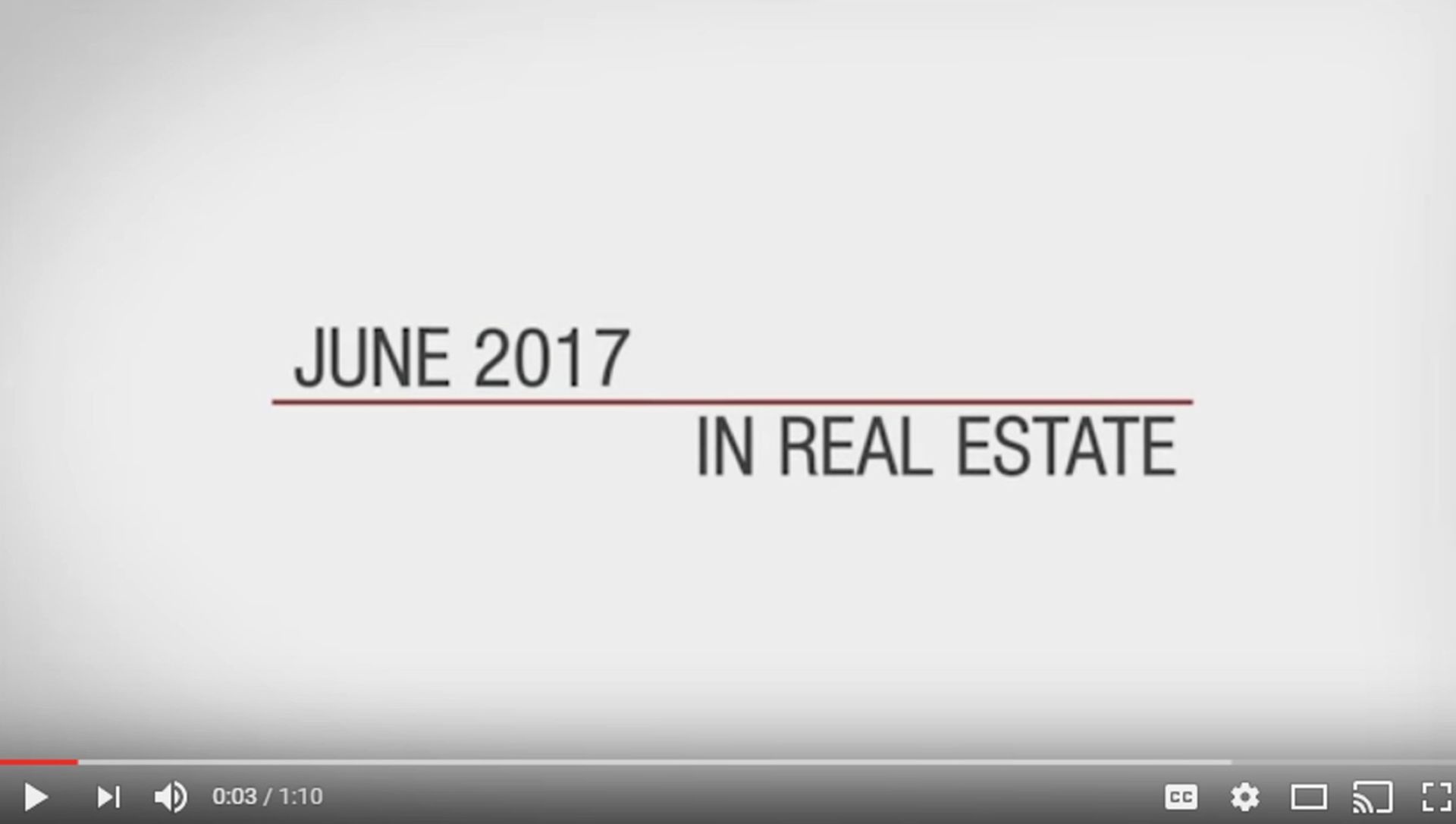 This Month in Real Estate – June 2017