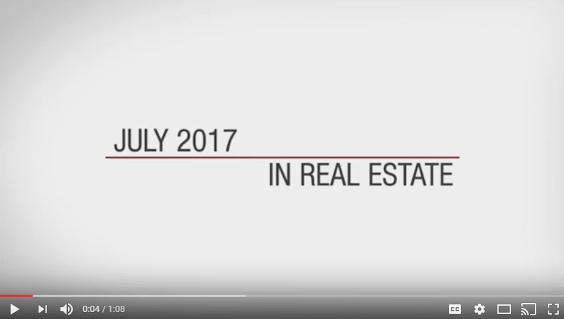 This Month in Real Estate – July 2017