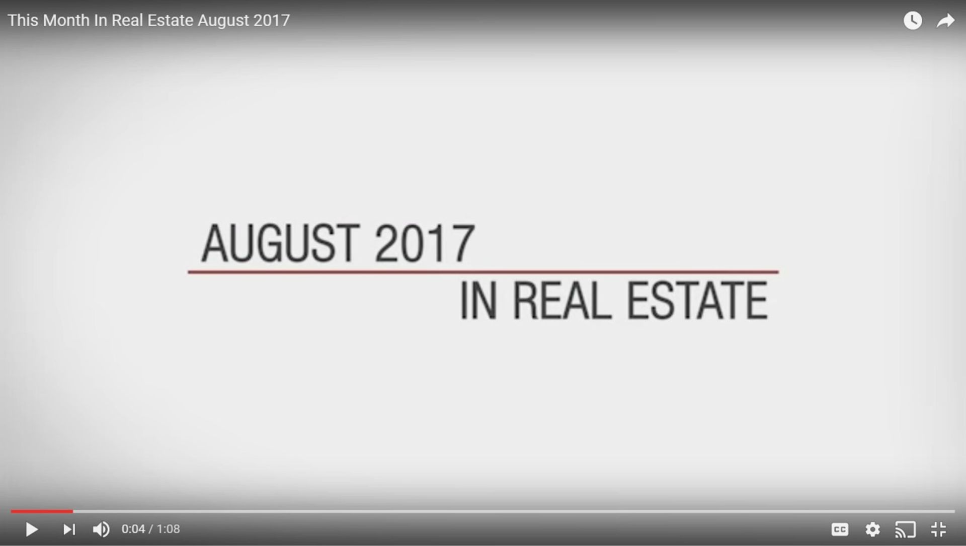 This Month in Real Estate – August 2017