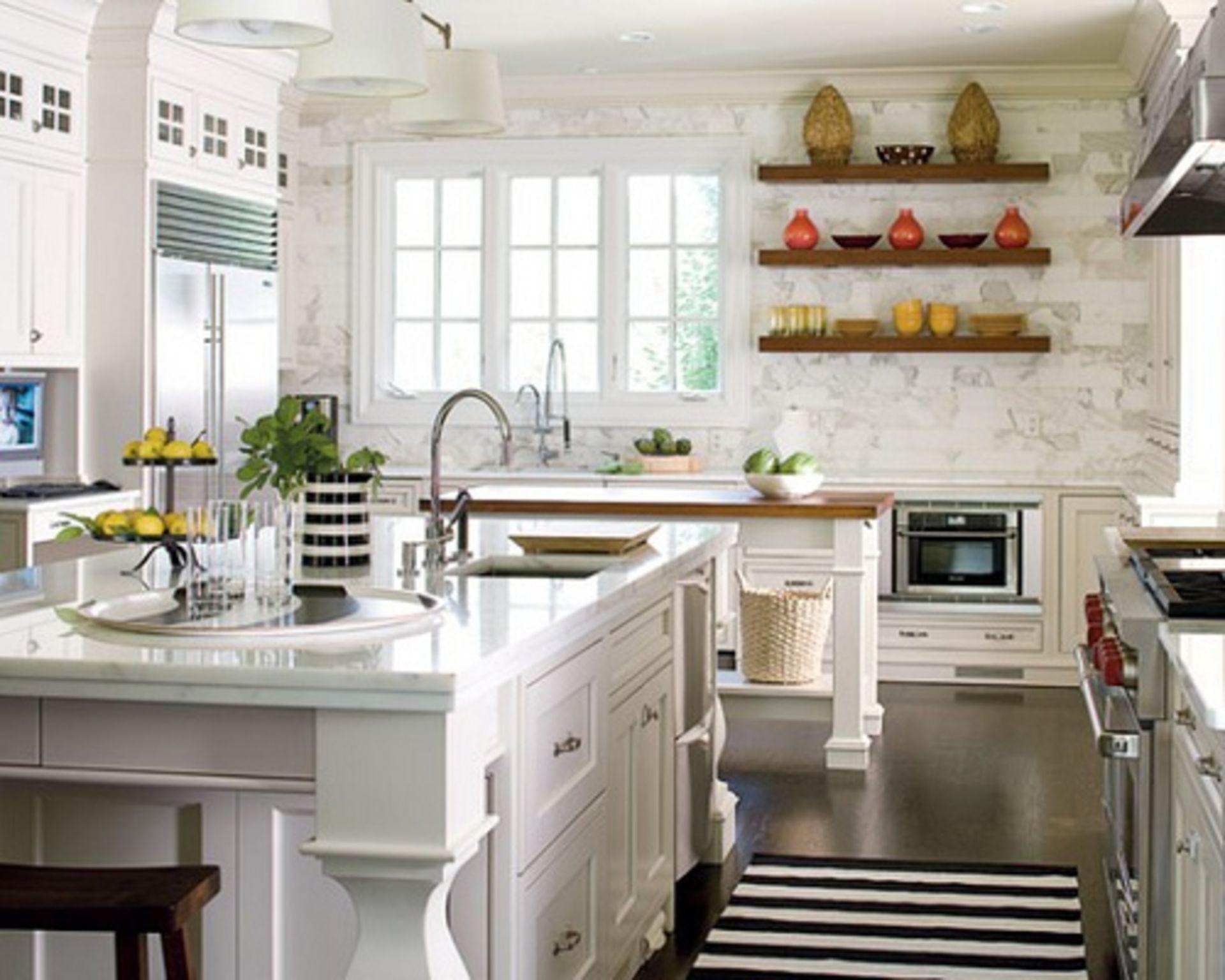 Design Tips: Accenting White Kitchens
