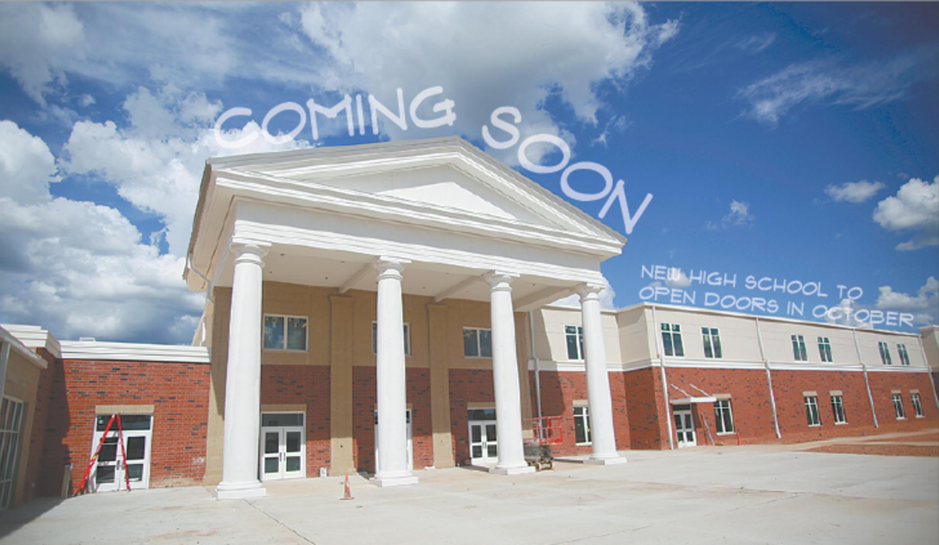 New High School to open doors in October