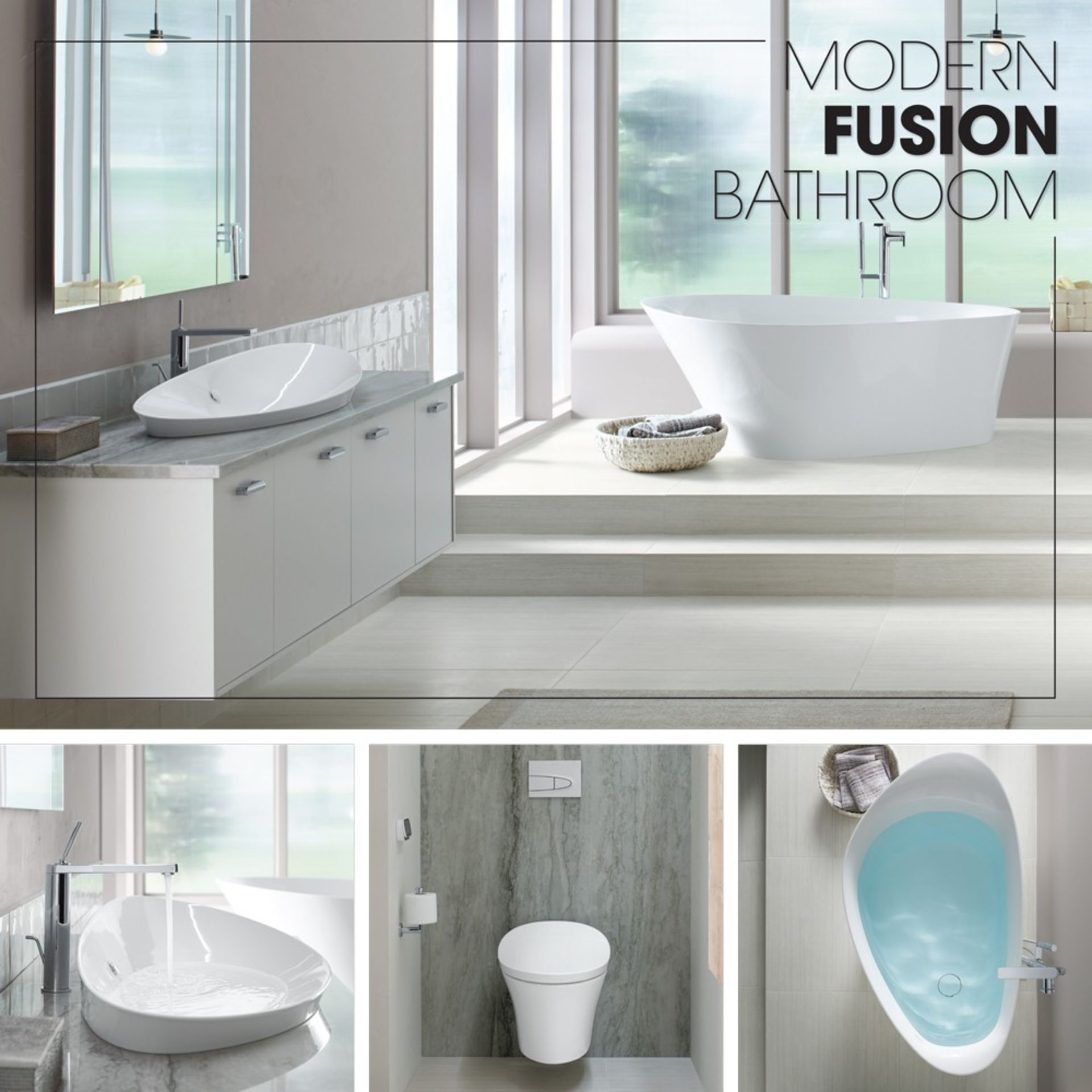 Modern Bath Design; Calming & Refreshing