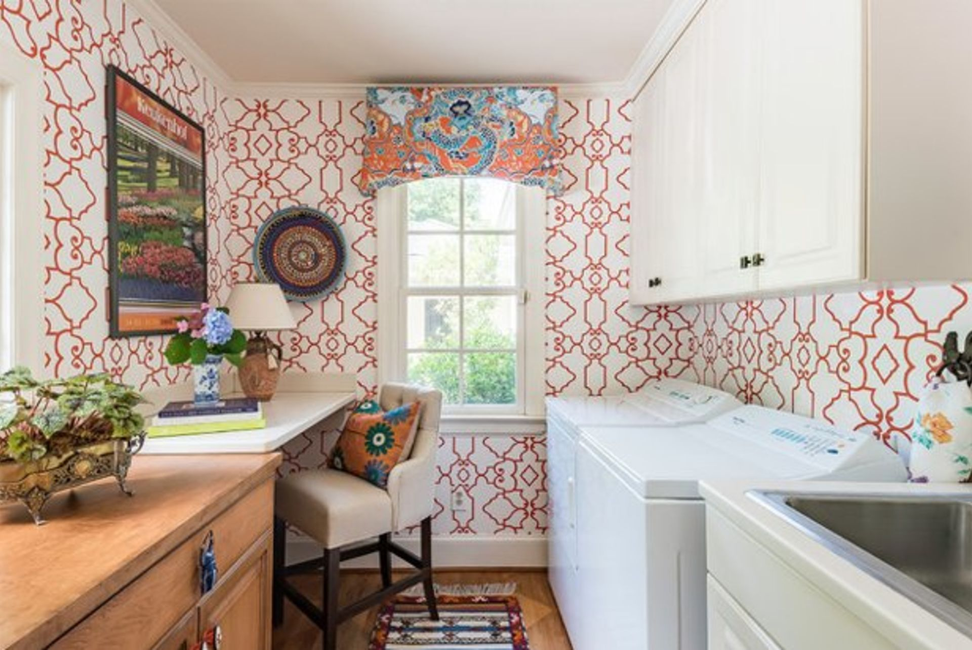 This Laundry Room Works Hard & Has Fun Too
