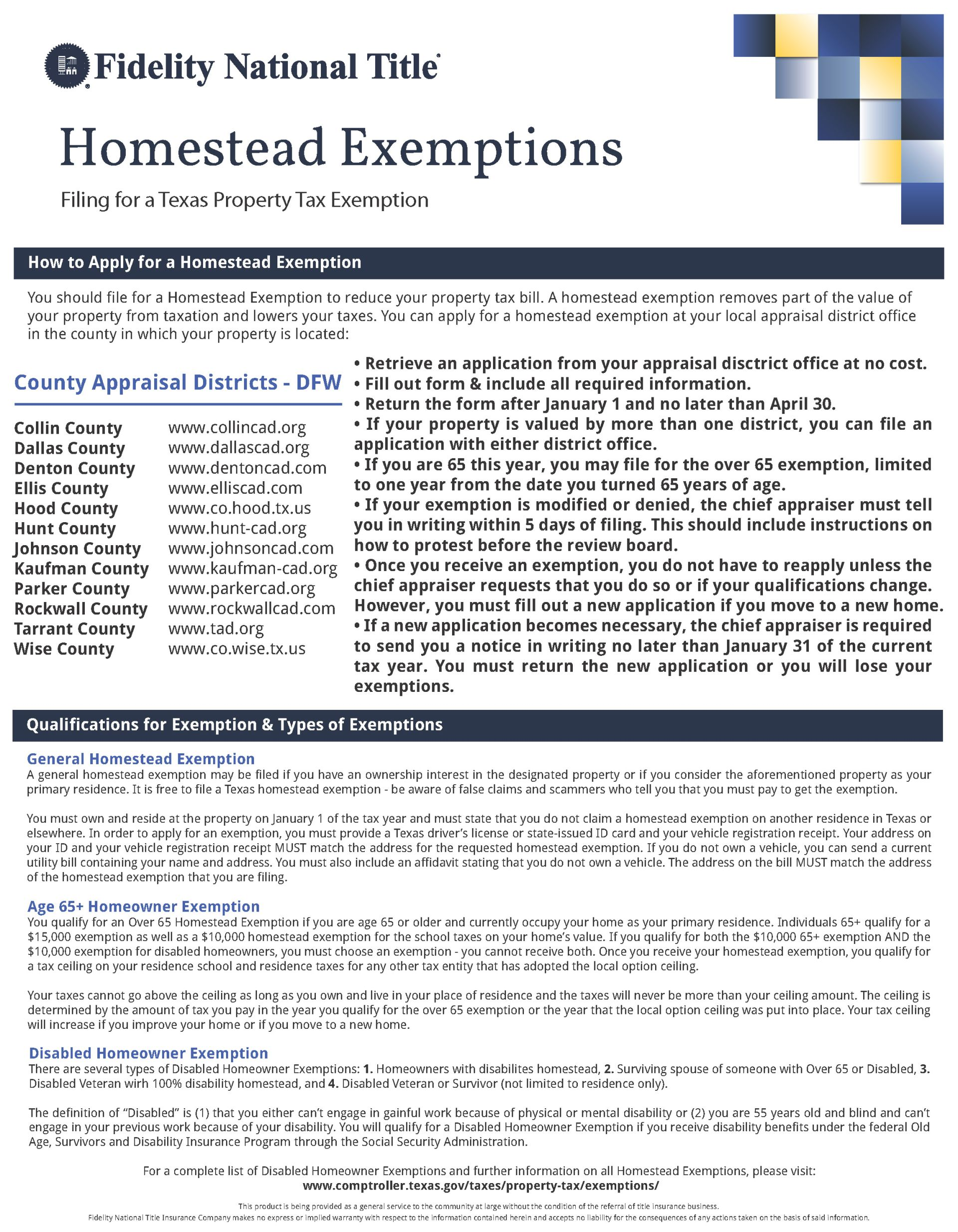 Did you file your Homestead Exemption?