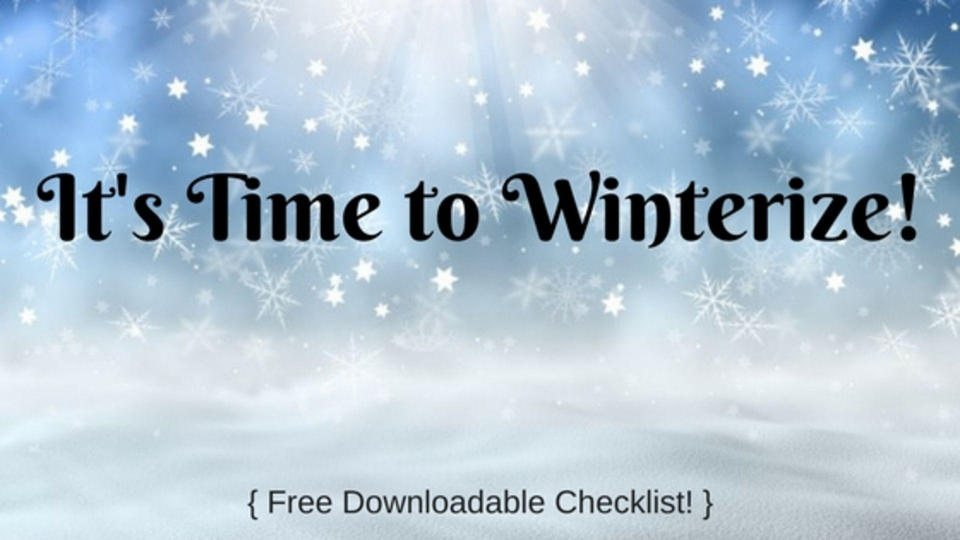 Winterize Your Home – Checklist