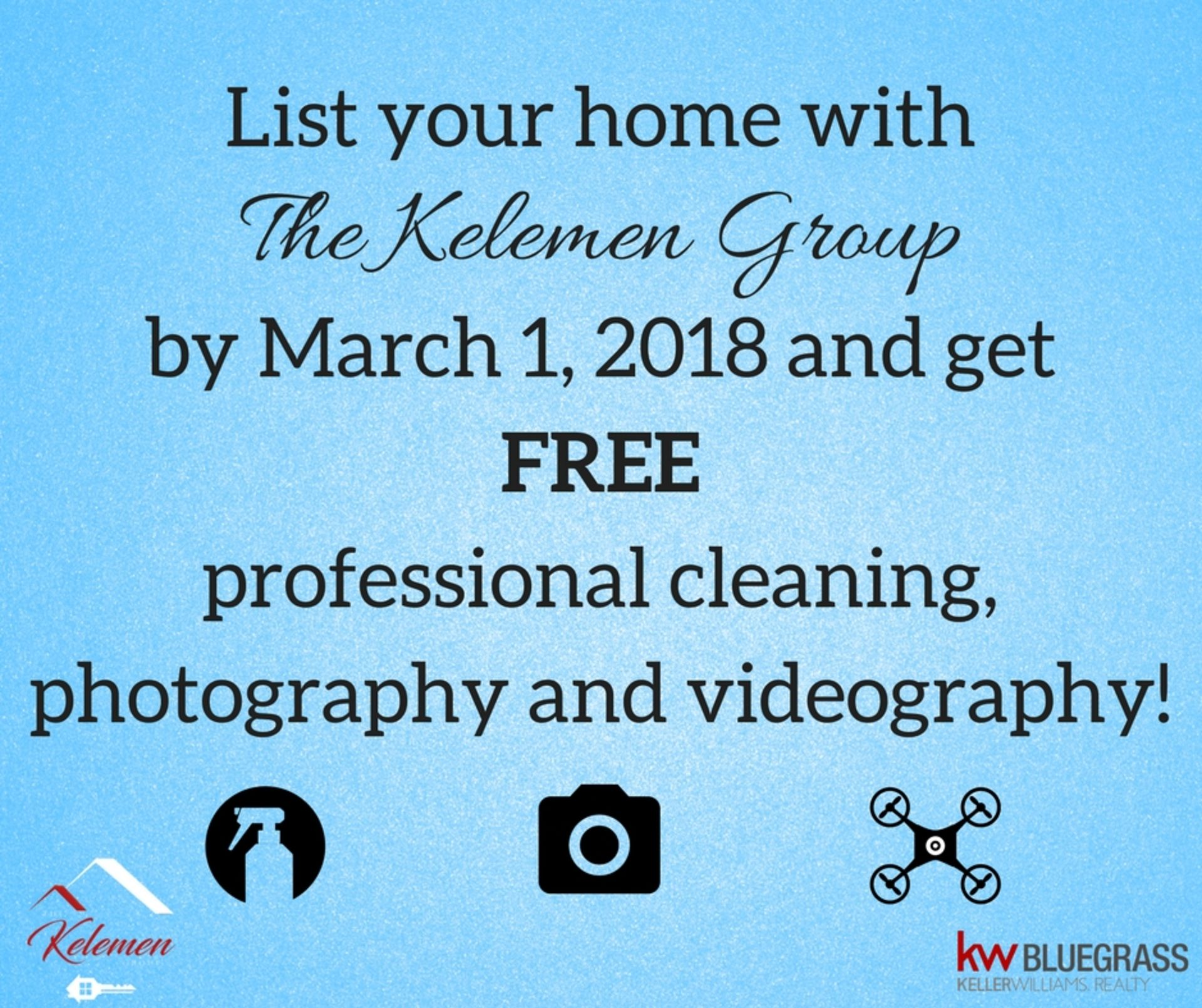 LIST YOUR HOME BY MARCH 1 – FREE CLEANING, PHOTO & VIDEO