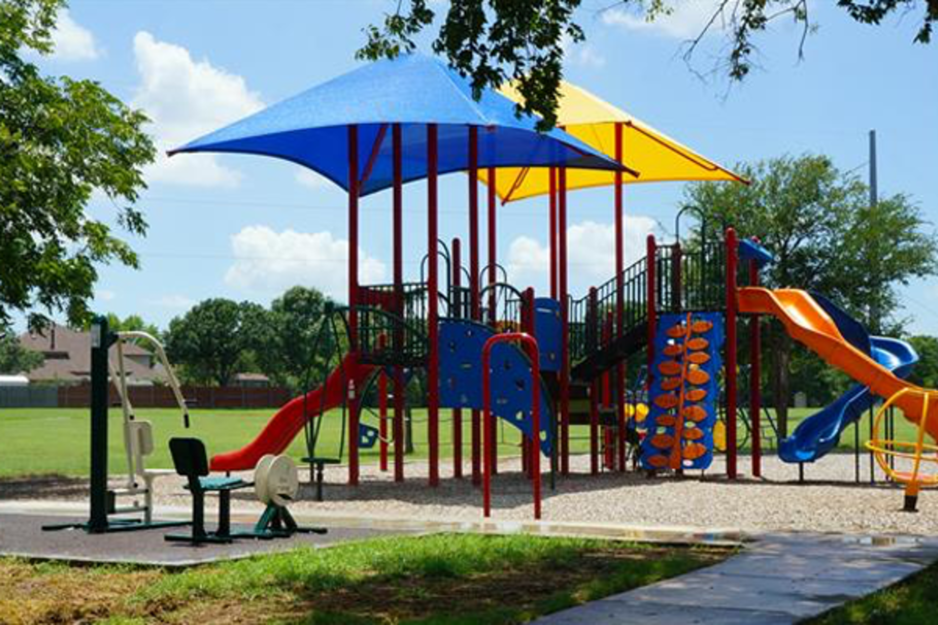Flower Mound and Lewisville Parks with Shade