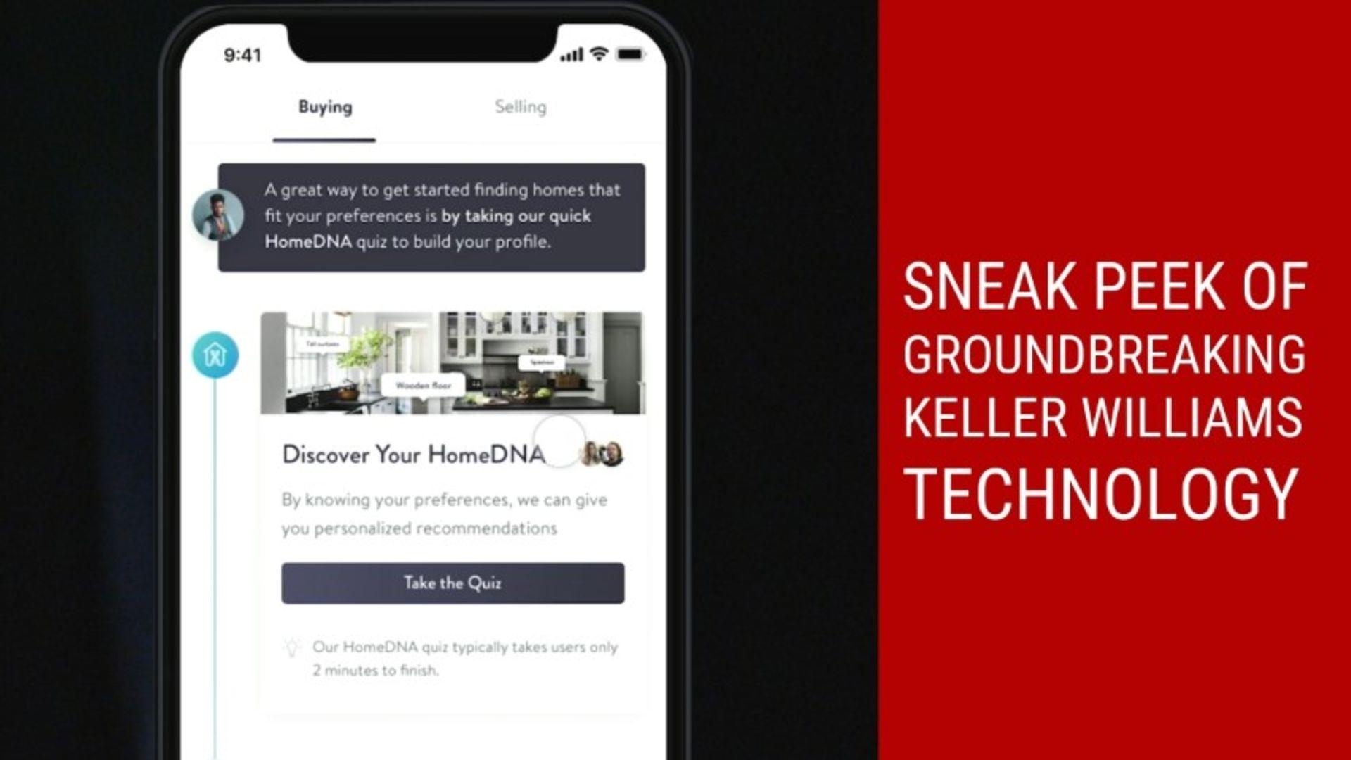 Sneak peek of groundbreaking Keller Williams technology KW App