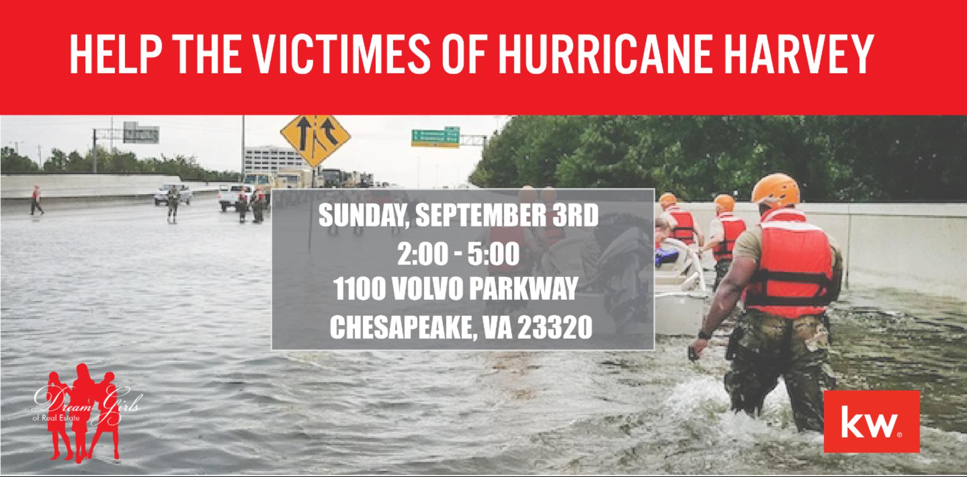 HELP! Hurricane Harvey Victims – THIS Sunday 2-5 pm