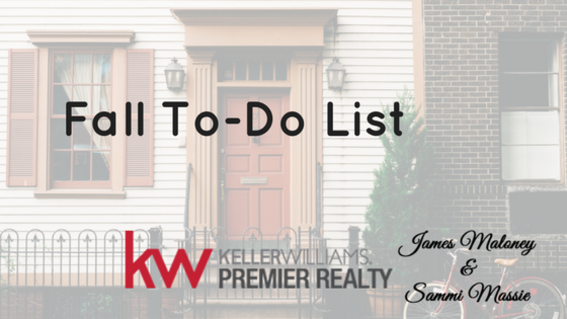 Fall To-Do List for Your House