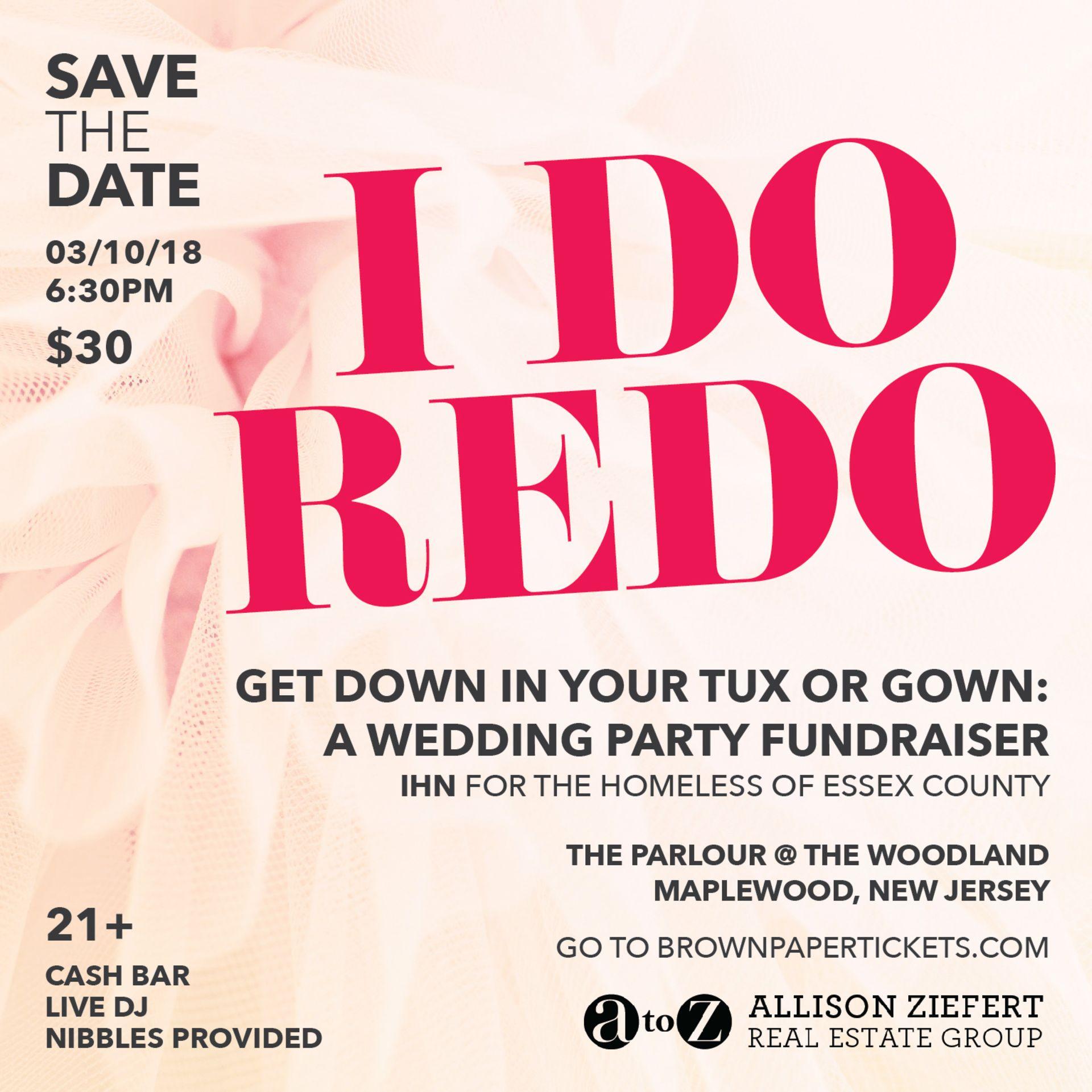 I Do Redo – A Wedding Party Fundraiser March 10, 2018