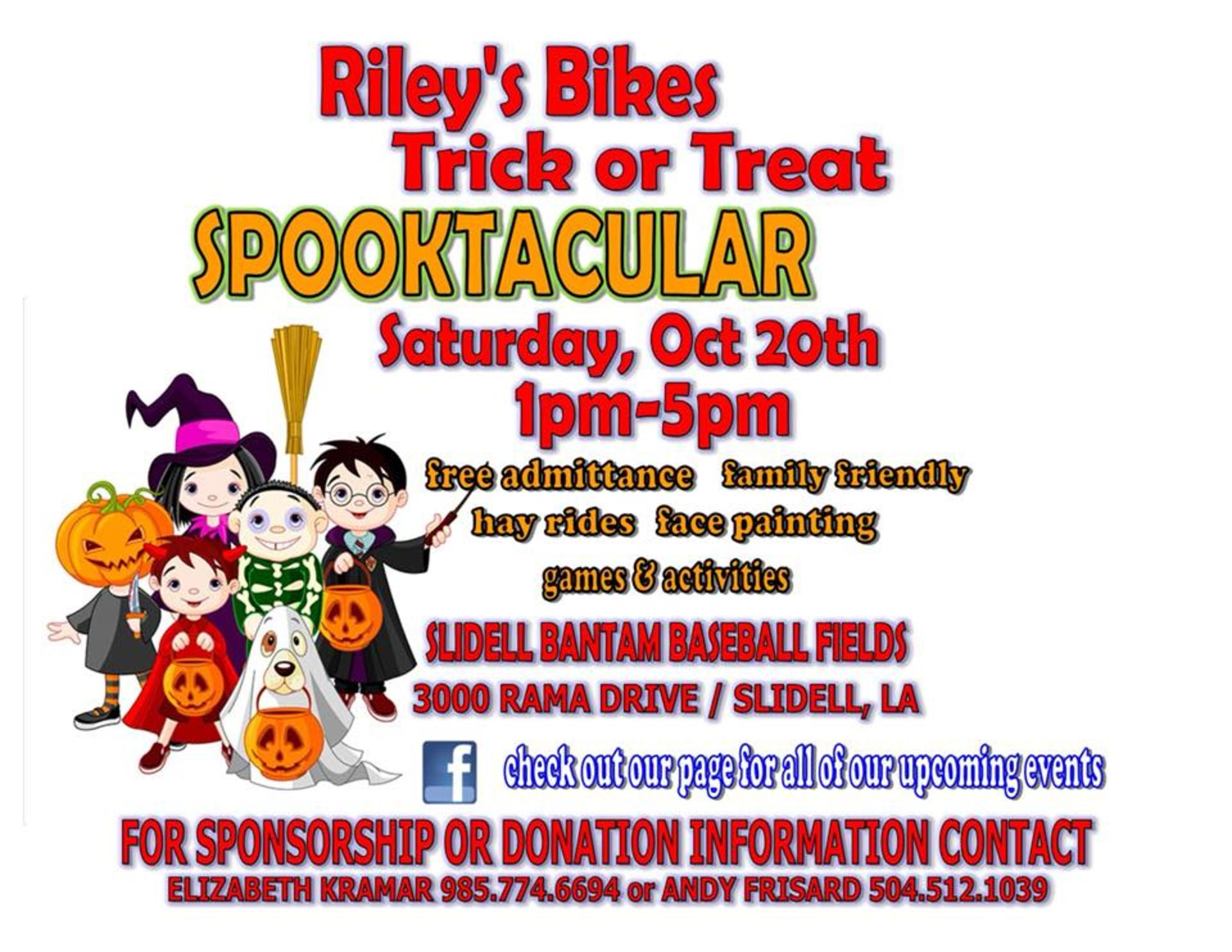 Sponsorship: Riley's Bikes Trick or Treat Spooktacular