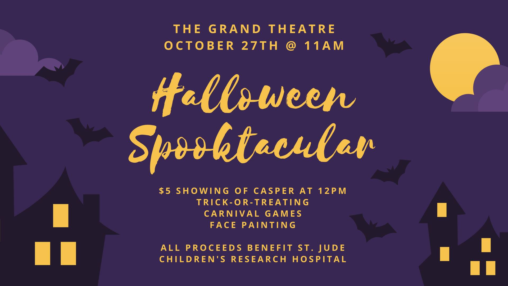 Sponsorship: The Grand Theatre Halloween Spooktacular