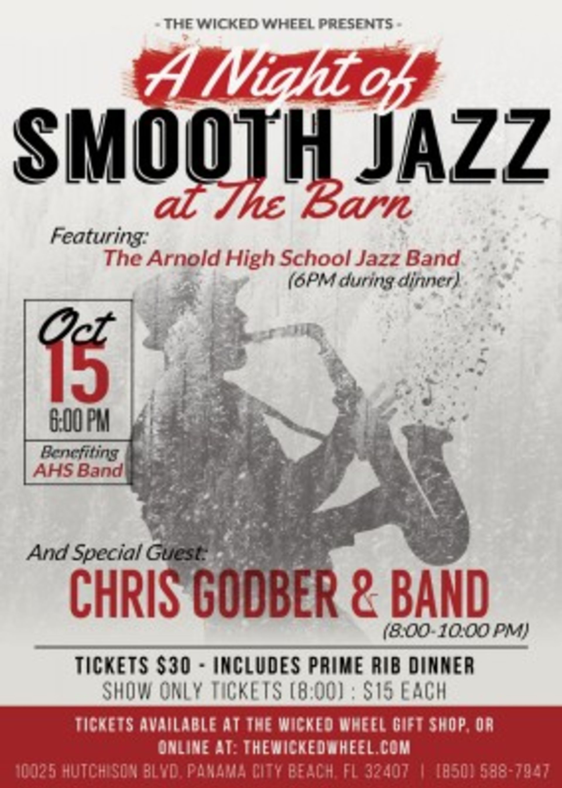 A Night of Smooth Jazz at The Barn  Presented by The Barn at The Barn at The Wicked Wheel