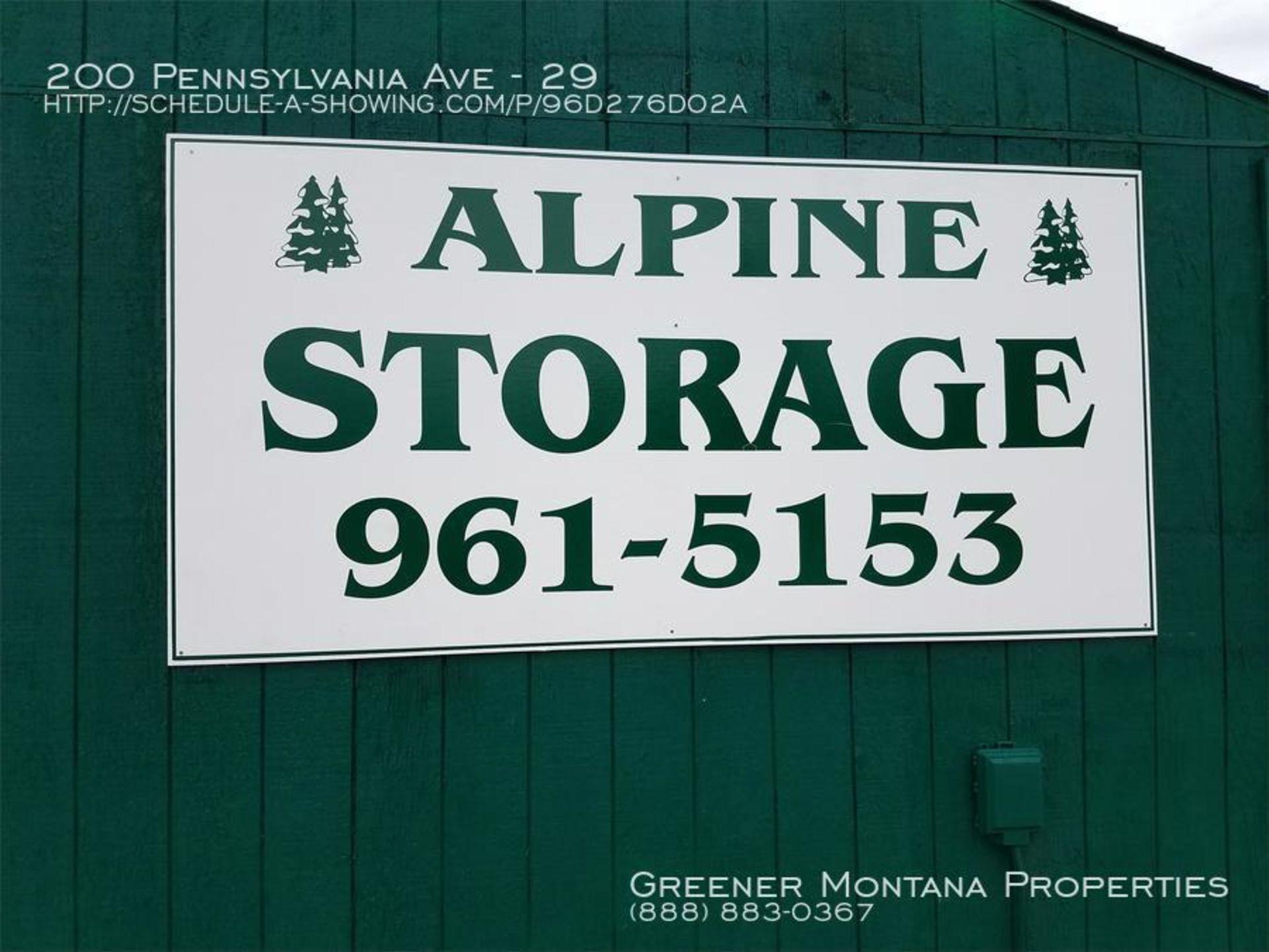 Alpine Storage