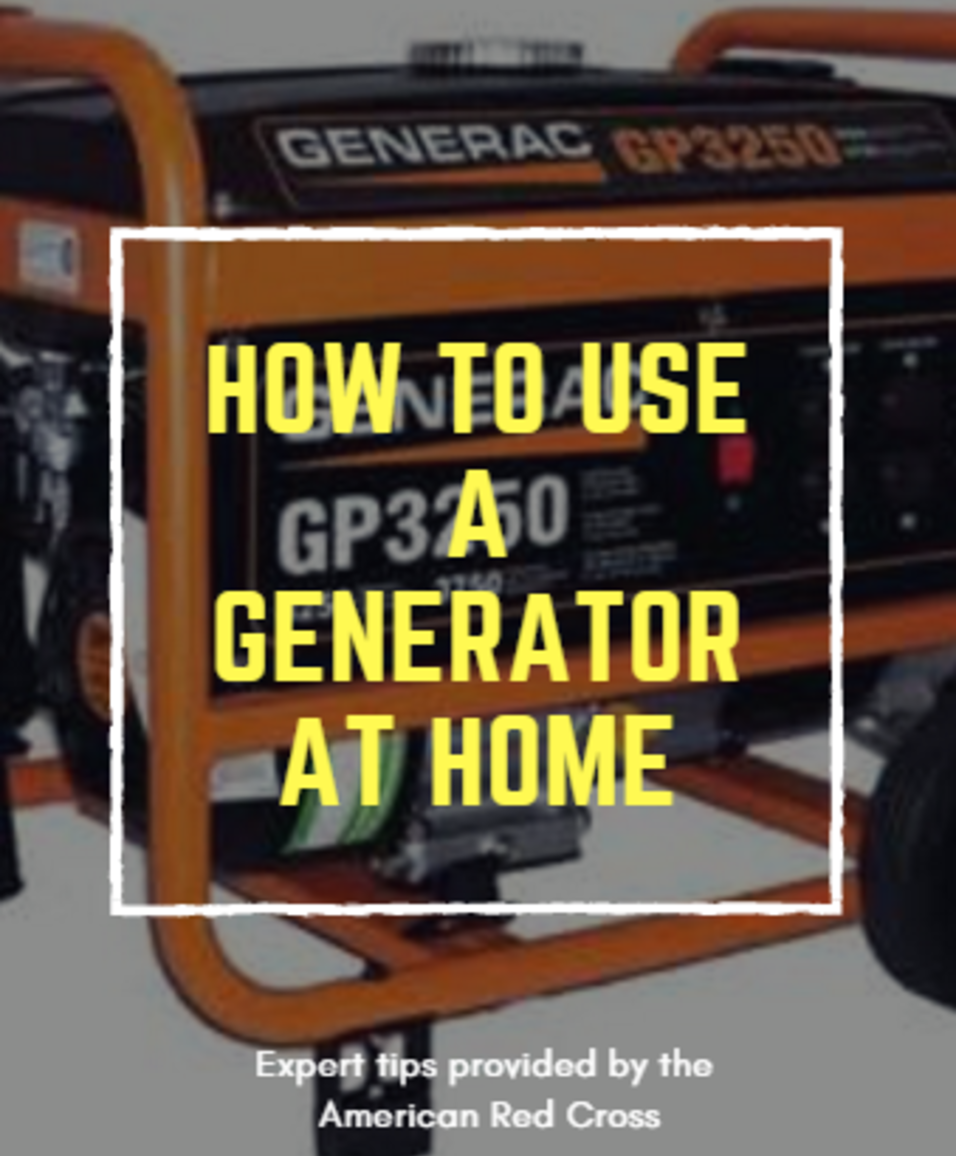 Quick Tips for Using a Generator at Home