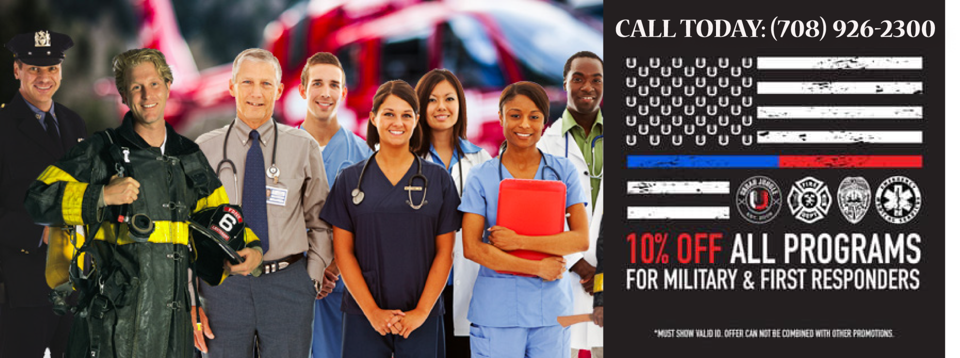 10% OFF ALL First Responders
