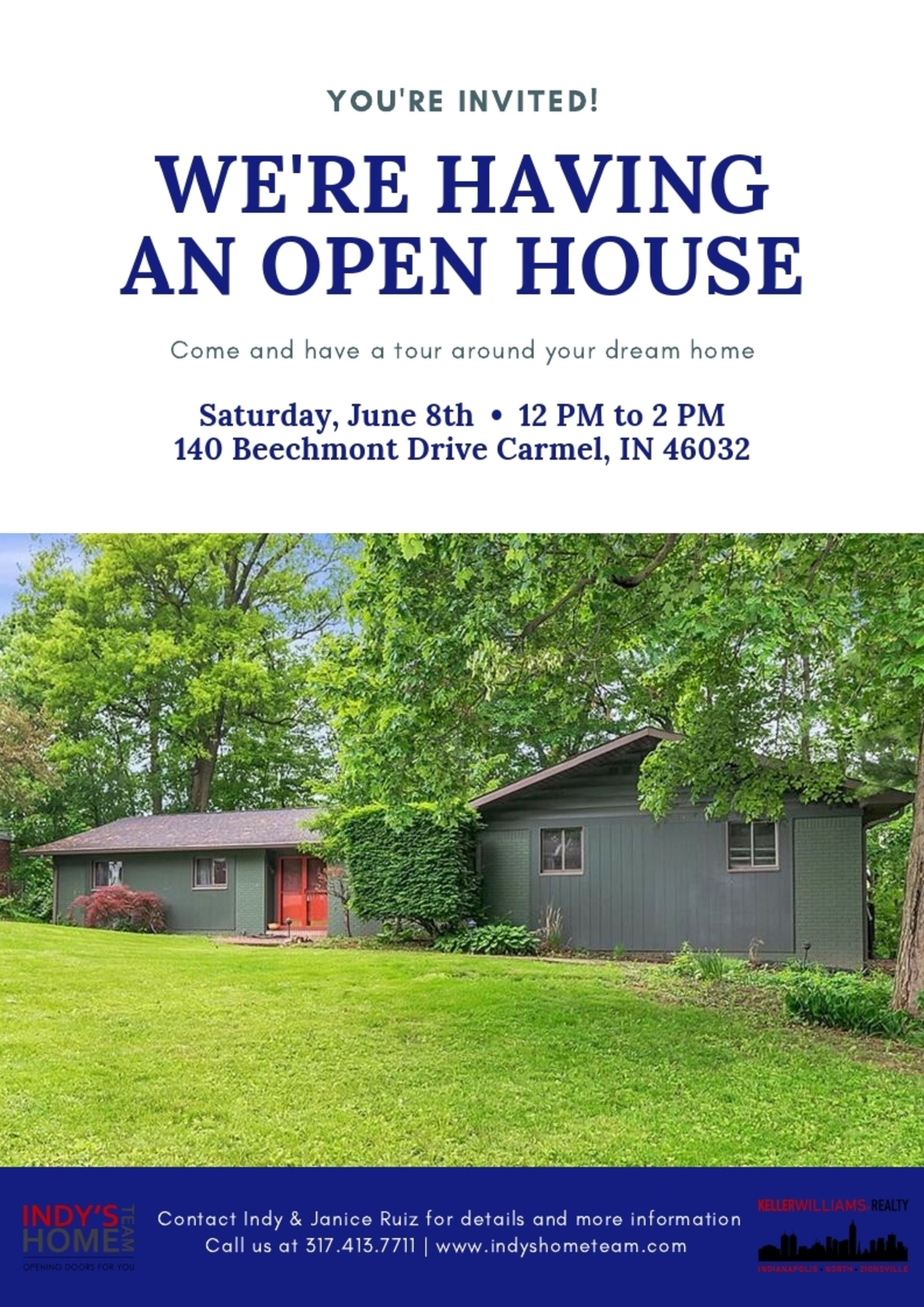 OPEN HOUSE   SATURDAY, June 8th from 12-2 PM! – 140 Beechmont Dr